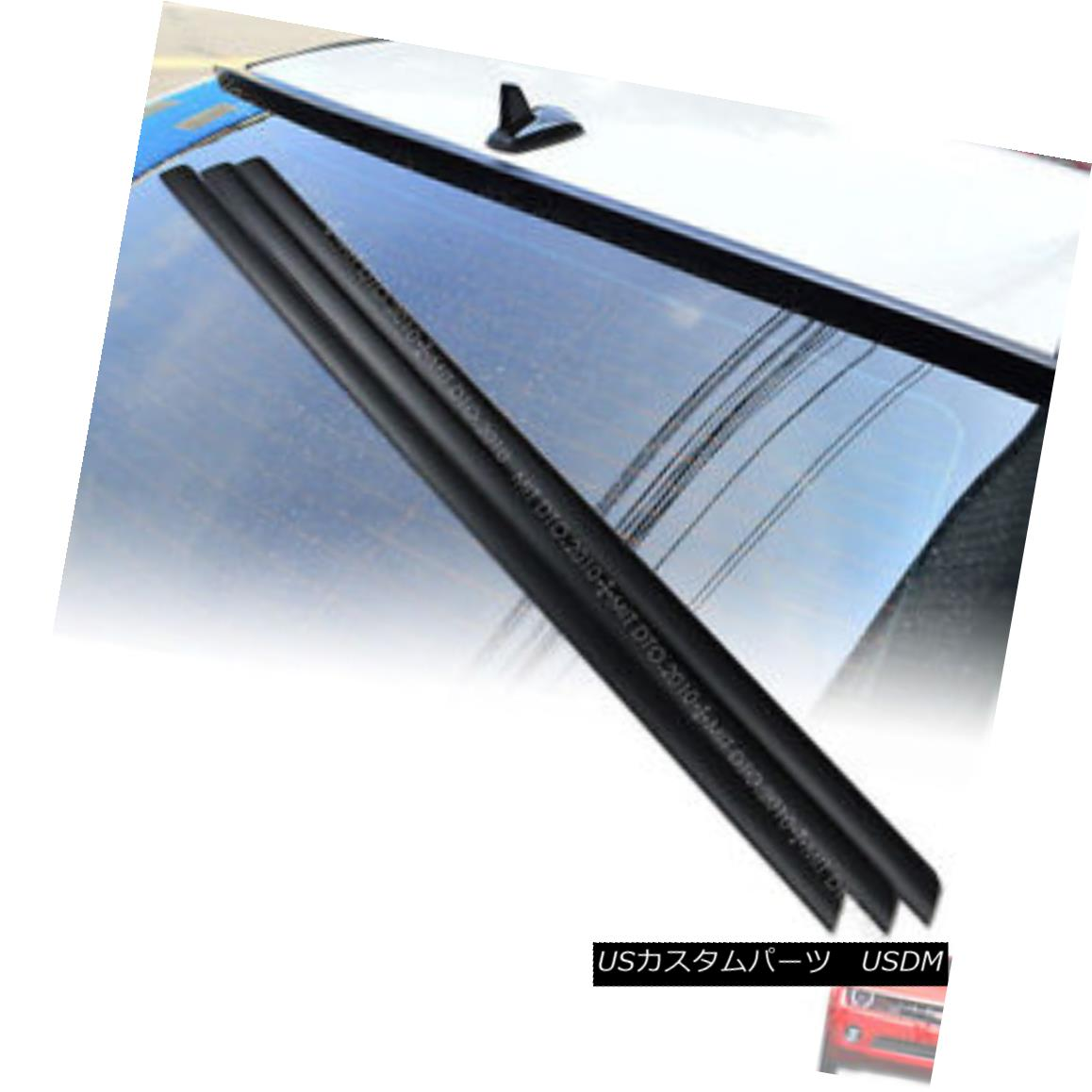 エアロパーツ Unpainted For Honda Civic 9Gen 9 Saloon 4DR Rear Window Roof Spoiler Wing PUF ホンダシビック9Gen 9サルーン4DRリアウィンドウルーフスポイラーウイングPUF未塗装
