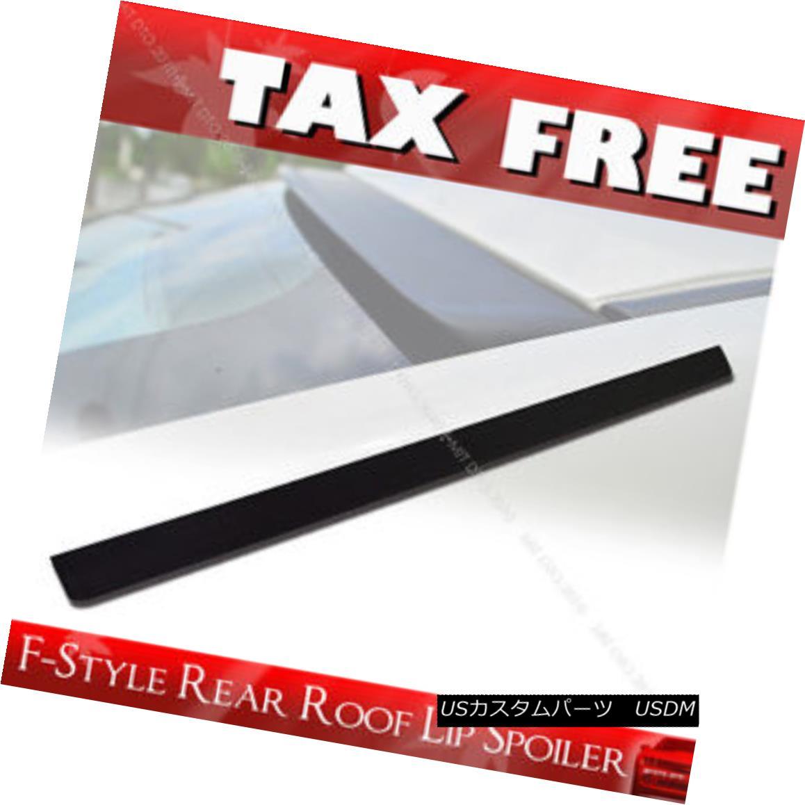 エアロパーツ Unpainted F-Style Roof Spoiler Wing For 09-15 NISSAN 370Z Z34 PUF 2DR COUPE § 09-15日産370Z Z34 PUF 2DR COUPEぬいぐるみFスタイルルーフスポイラーウイング