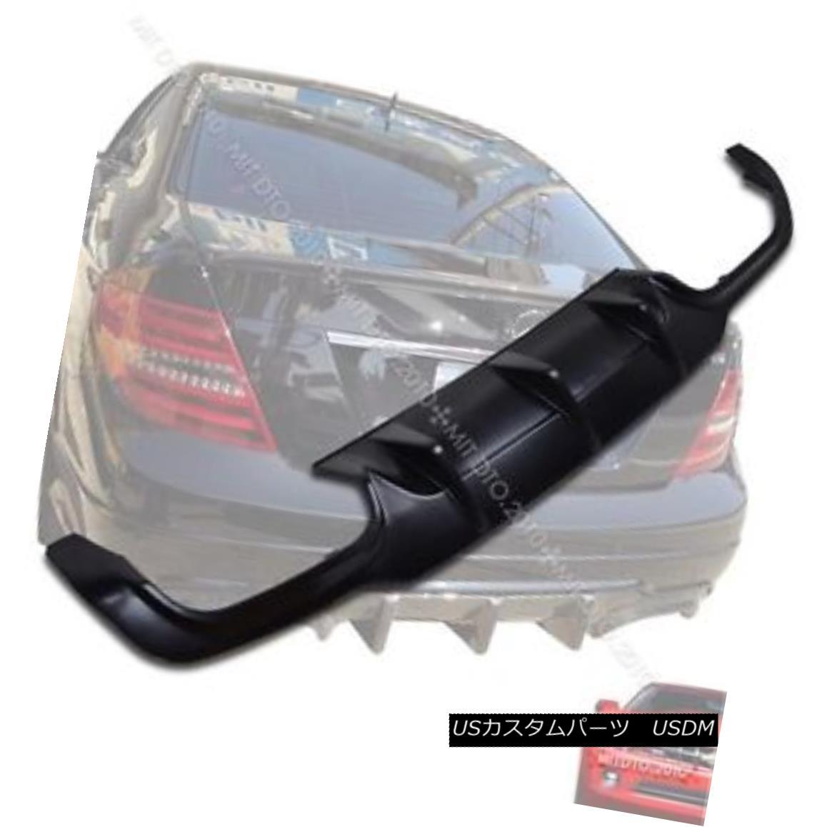 エアロパーツ Unpainted MERCEDES BENZ C-Class C204 2DR Coupe Rear Diffuser Sport Bumper § 未塗装メルセデスベンツCクラスC204 2DRクーペリアディフューザースポーツバンパー