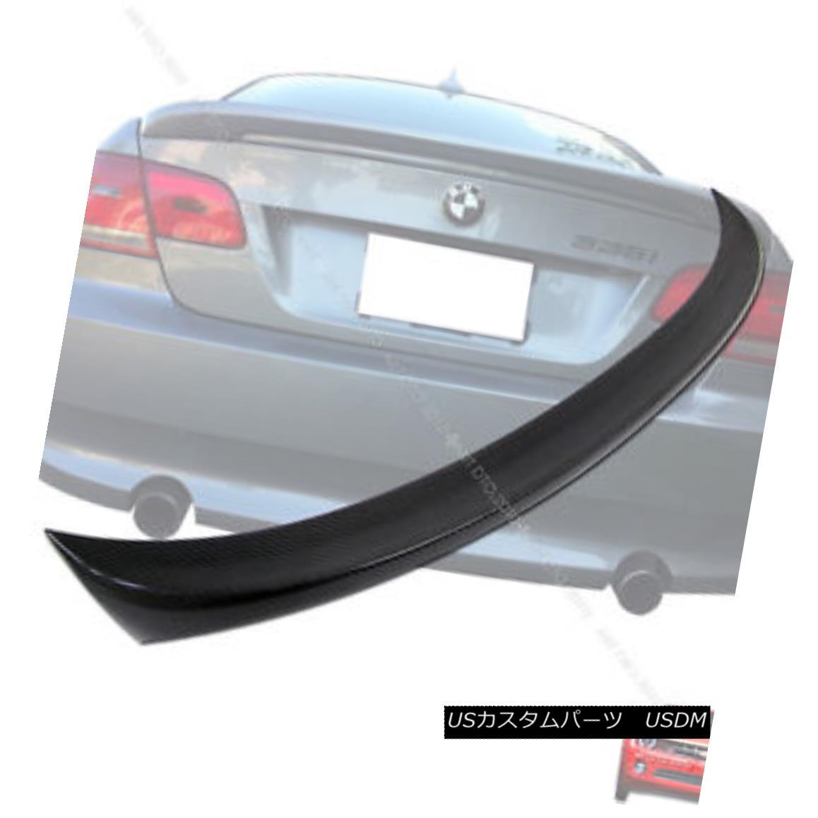 エアロパーツ Carbon Fiber 2DR BMW E92 3er Coupe M-Tech Type Trunk Spoiler 07-13 335is 328i 炭素繊維2DR BMW E92 3erクーペM-Techタイプトランク・スポイラー07-13 335is 328i