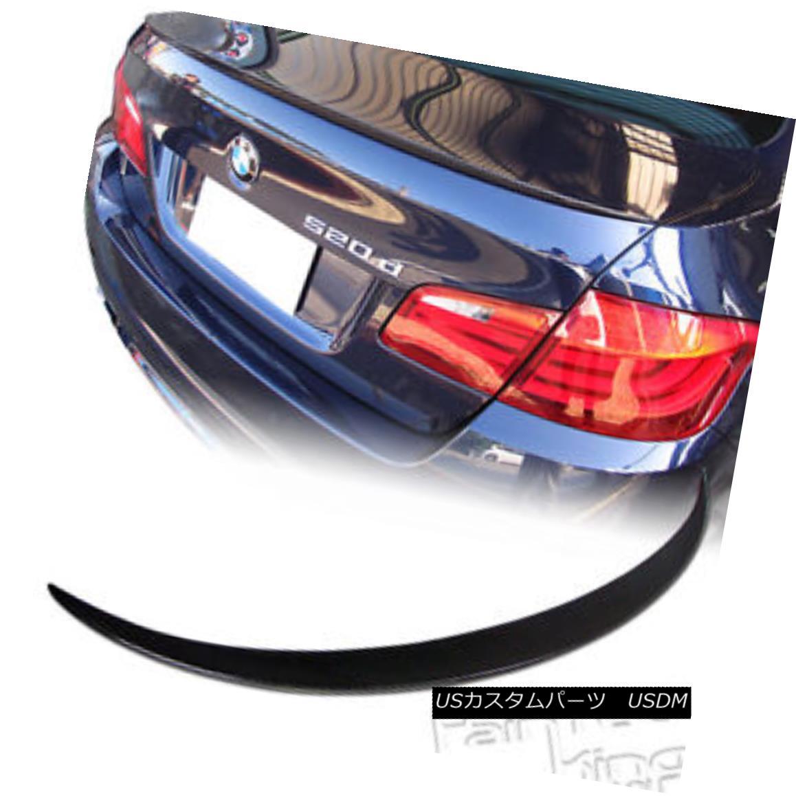 エアロパーツ SHIP FROM LA- M5 Type Carbon Fiber For BMW F10 5-Ser Sedan Trunk Spoiler Wing BMW F10 5シリーズセダントランクスポイラーウイング用LA-M5タイプカーボンファイバー製
