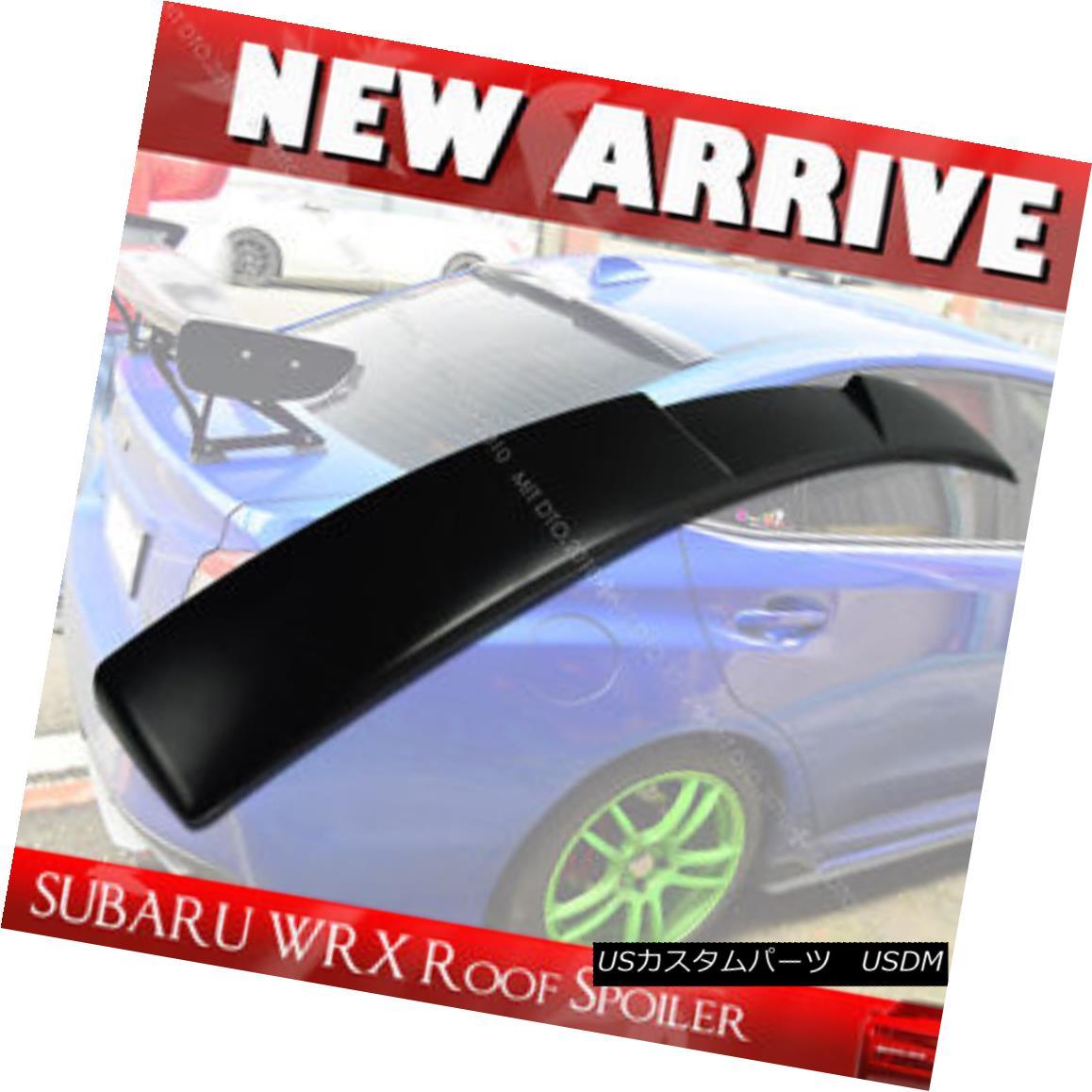 エアロパーツ SHIP FROM LA- Unpaint For Subaru WRX 4th STI V-Type Rear Roof Spoiler Wing Sedan スバルWRX第4回STI V型リアルーフスポイラーウイングセダン