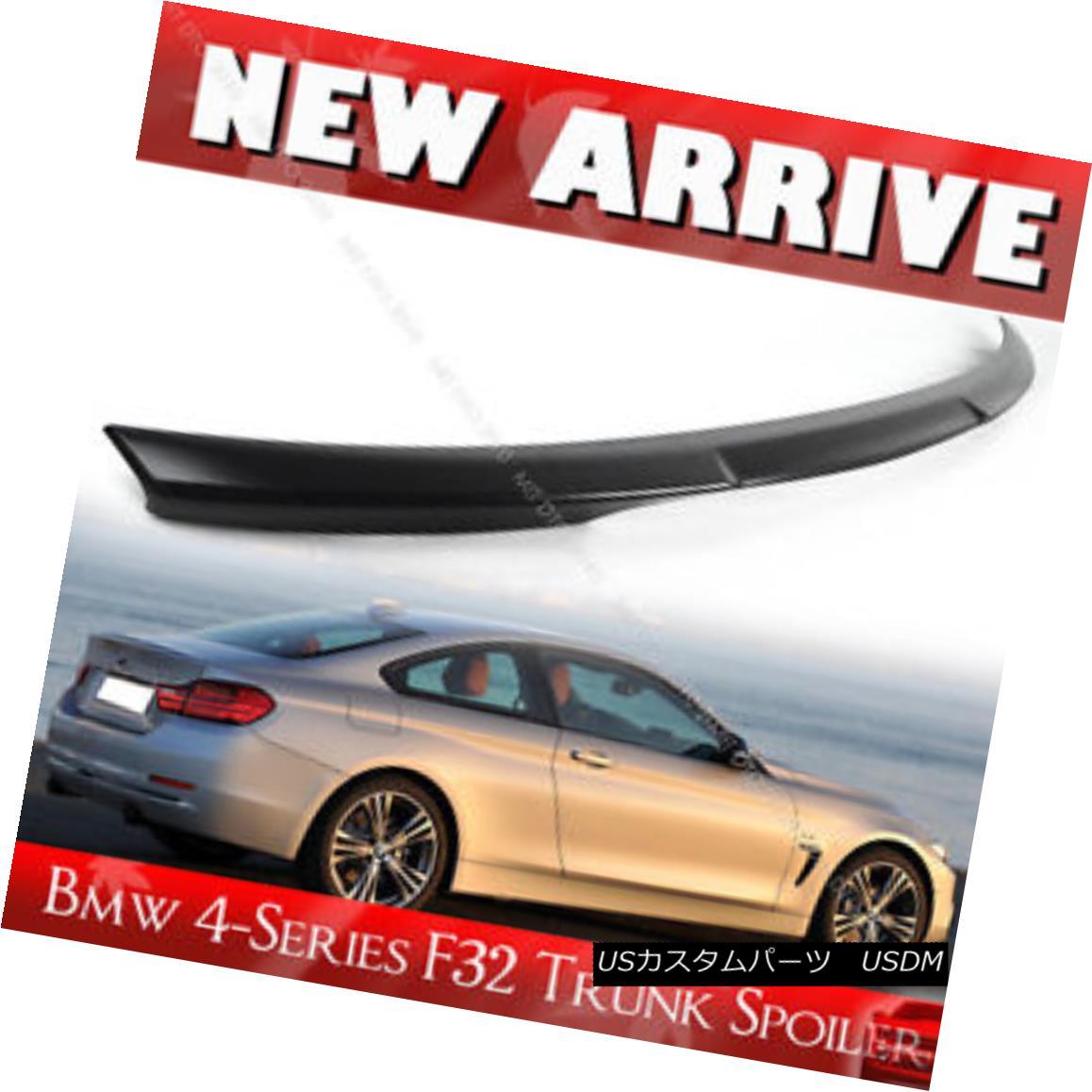 エアロパーツ SHIP FROM LA- BMW 4-Series F32 Coupe M4 Trunk Spoiler Unpaint 420i 428i 2017 船からLA-BMW 4シリーズF32クーペM4トランク・スポイラー未塗装420i 428i 2017