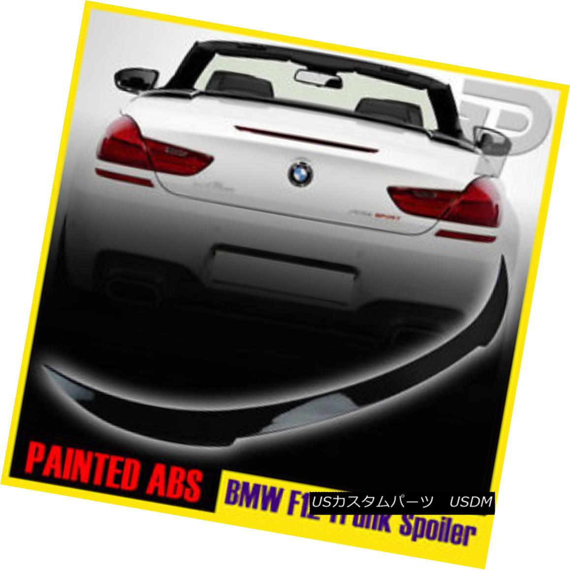 エアロパーツ PAINTED BMW 6 SERIES F12 CONVERTIBLE V-TYPE REAR TRUNK SPOILER WING 640i 650i▼ ペイントされたBMW 6シリーズF12コンバチブルVタイプリヤトランクスポイラーウイング640i 650i?