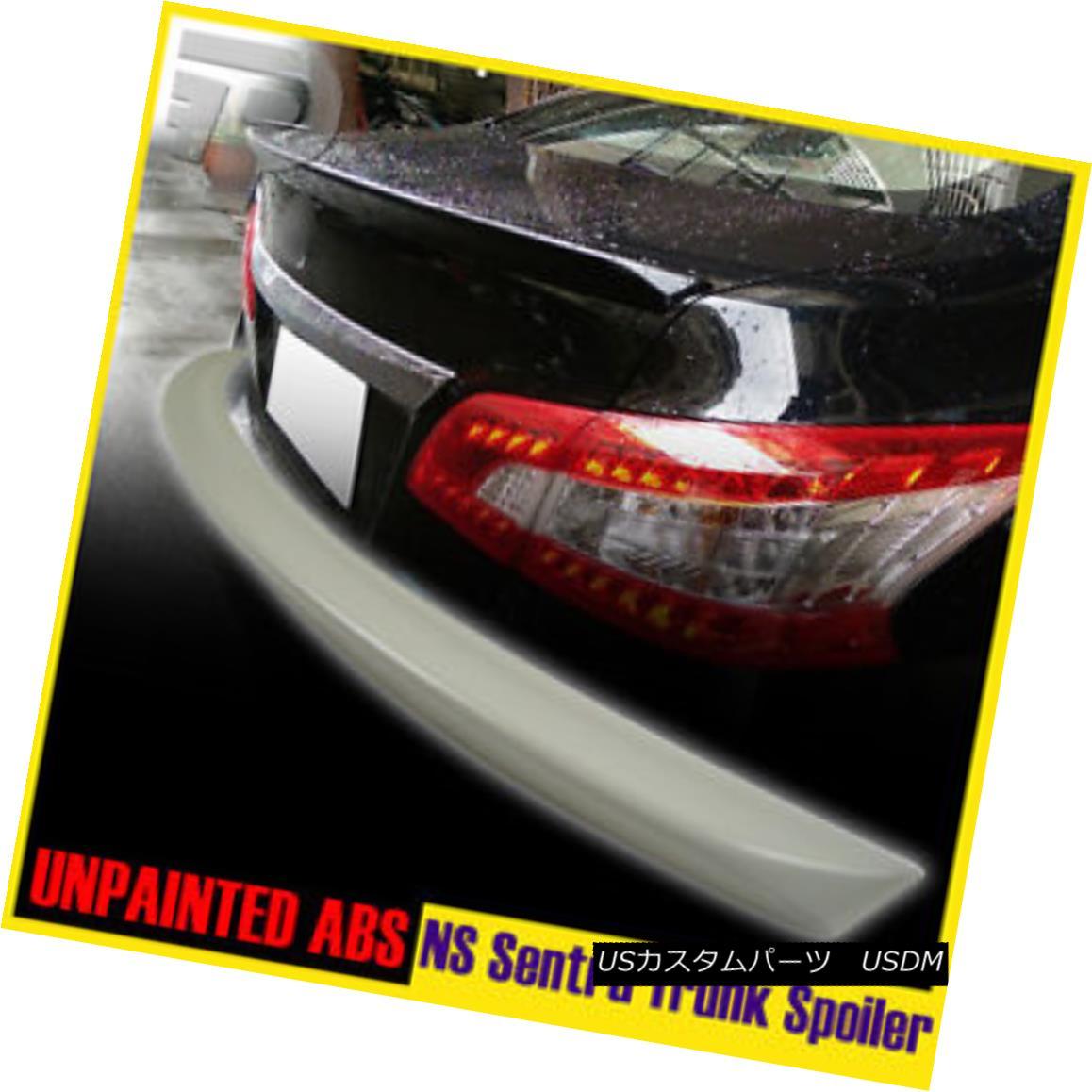 エアロパーツ Unpainted For Sentra 7th B17 Rear Trunk Lip Spoiler Wing 4DR Sedan ▼ Sentra 7th B17リアトランクリップスポイラーウィング4DRセダンの未塗装?