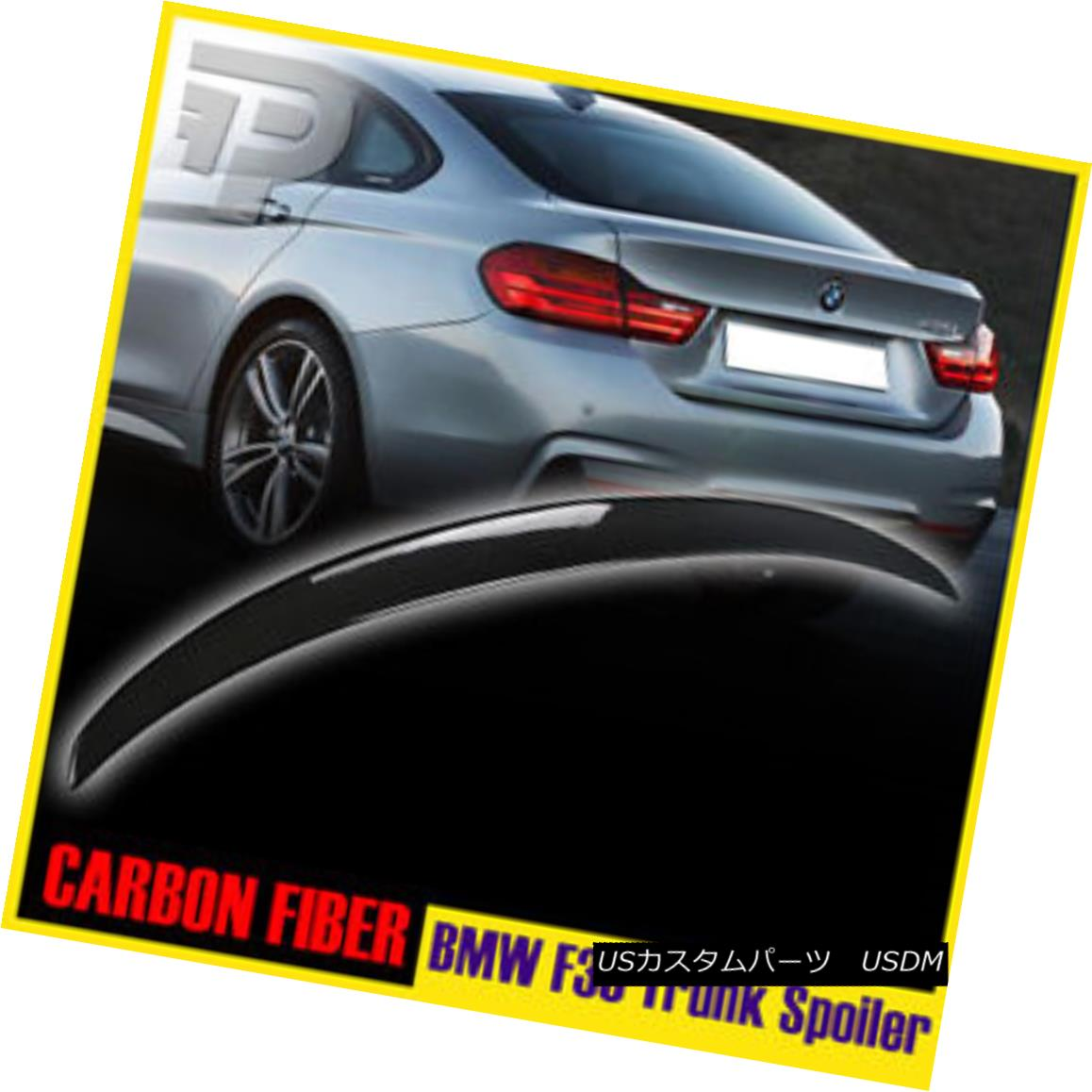 エアロパーツ CARBON FIBER BMW F36 GRAN COUPE PERFORMANCE P-TYPE REAR TRUNK SPOILER ABS▼ カーボンファイバーBMW F36 GRAN COUPE PERFORMANCE P-TYPEリアトランクスポイラーABS?