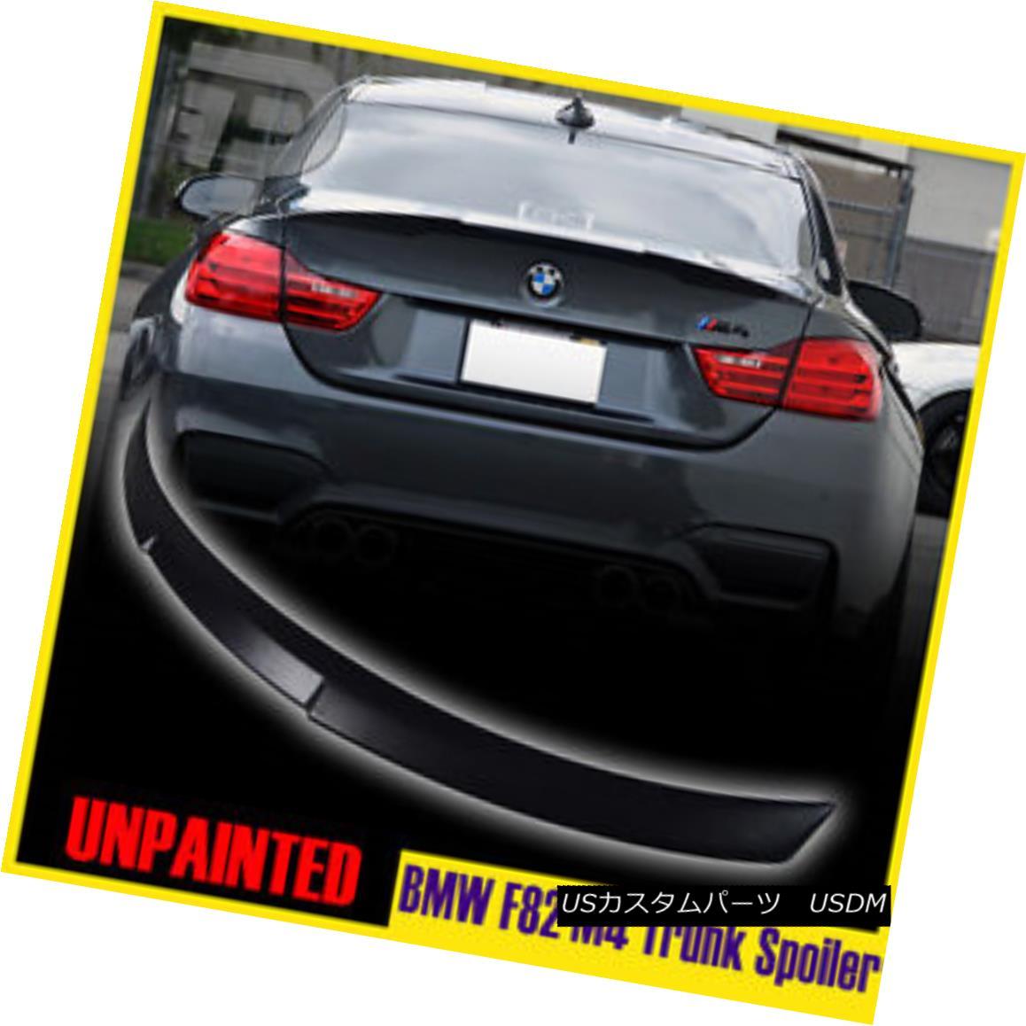 エアロパーツ MATTE BLACK FOR BMW 4-SER F82 M4 PERFORMANCE P-TYLE REAR WING TRUNK SPOILER マットブラックfor BMW 4-SERIES F82 M4 PERFORMANCE P-TYLEリアウイングTRUNK SPOILER