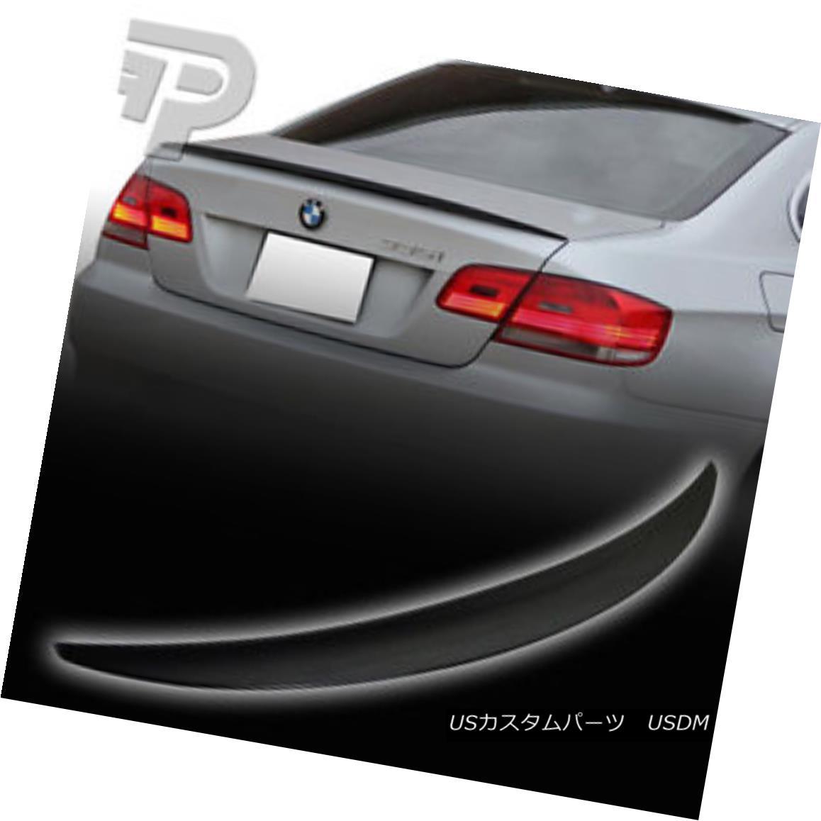 エアロパーツ PAINTED E92 BMW COUPE PERFORMANCE P TYPE TRUNK REAR SPOILER 475 BLACK ▼ ペイントされたE92 BMWクーペのパフォーマンスPタイプトランクリアスポイラー475ブラック?