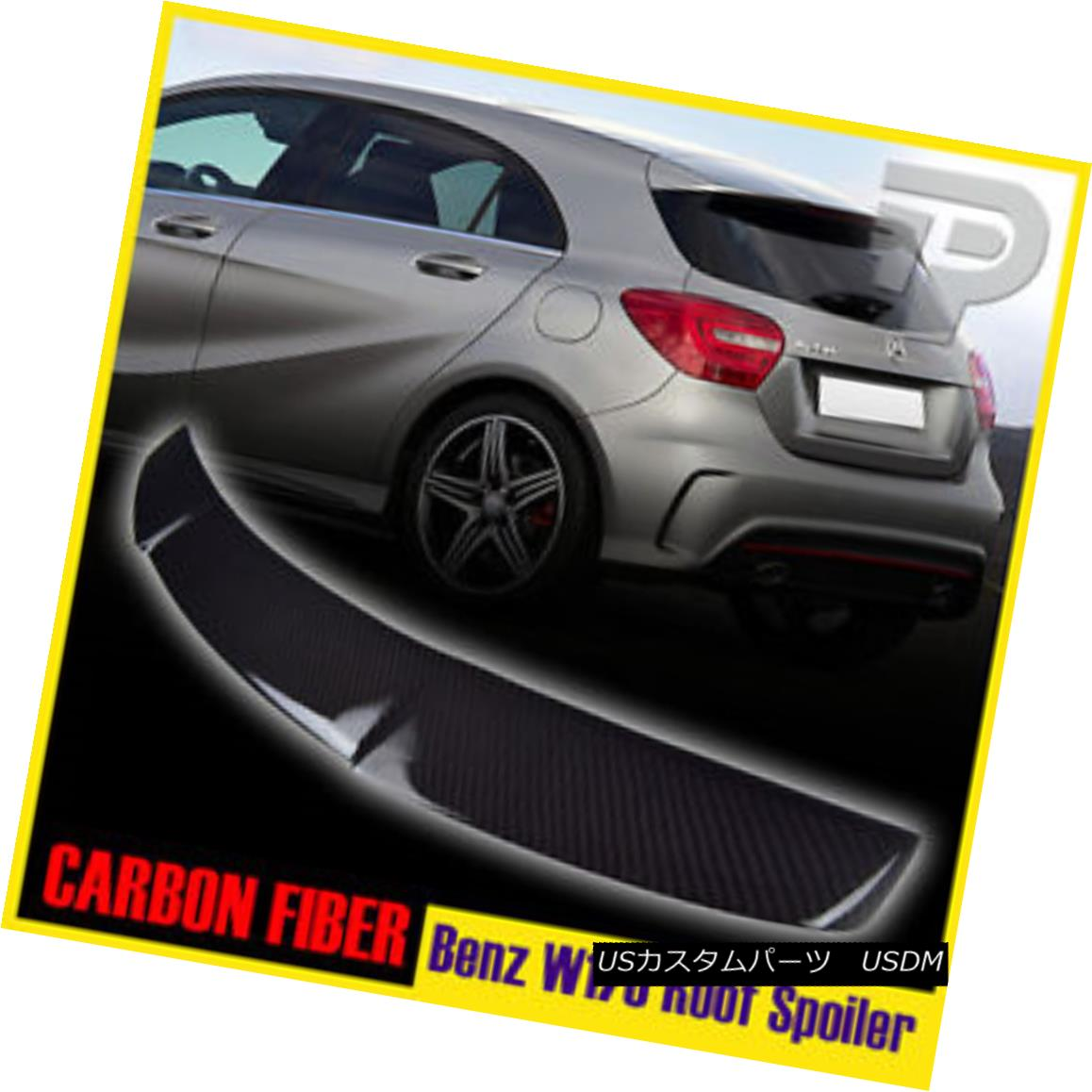エアロパーツ Carbon Fiber Mercedes Benz W176 A-Class DTO Roof Spoiler Wing 13-15 A250 ▼ 炭素繊維メルセデスベンツW176 AクラスDTOルーフスポイラーウィング13-15 A250?