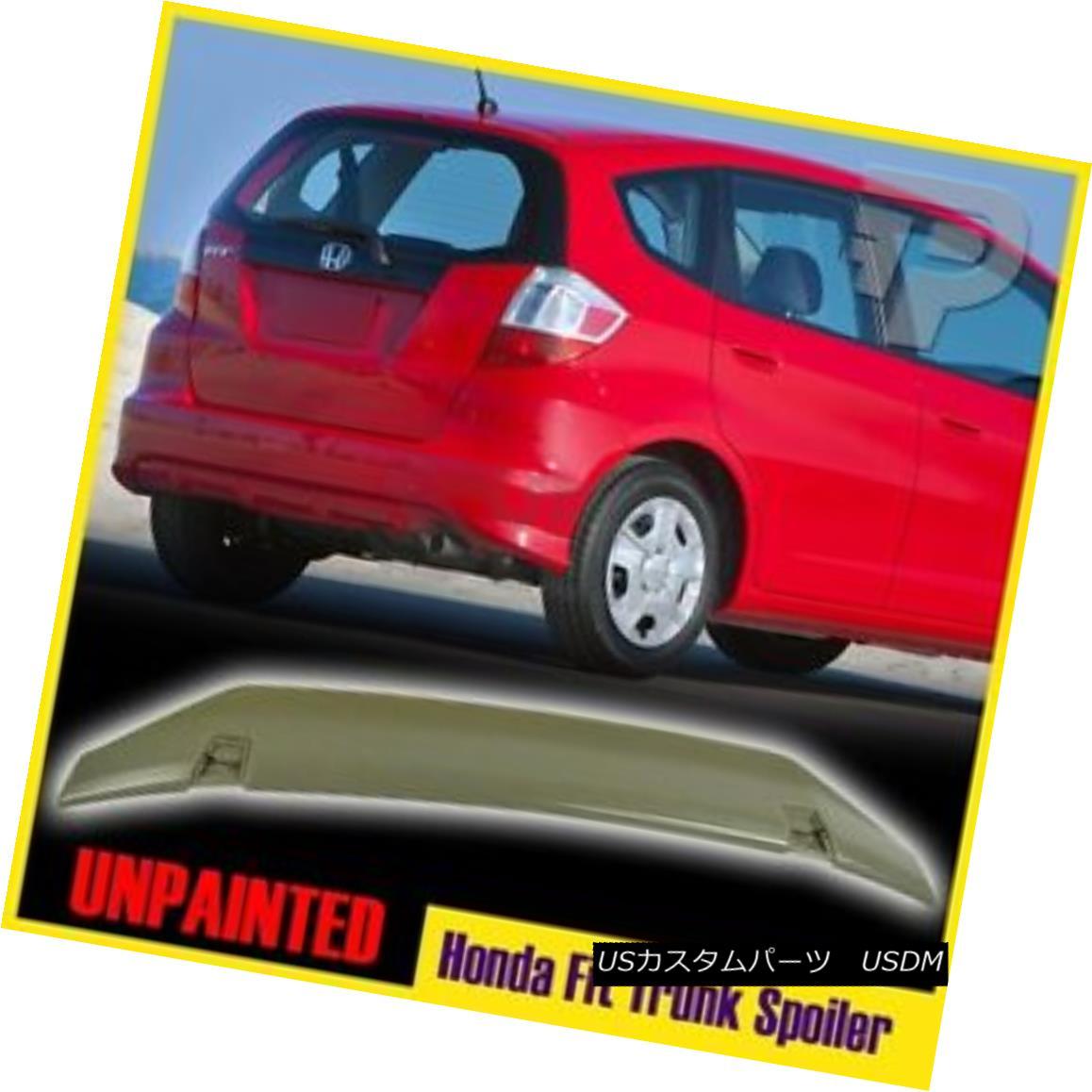 エアロパーツ Unpainted For Honda Fit 2nd Hatchback Rear Trunk Spoiler Wing OE Type 2009-2013 ホンダフィット2番ハッチバックリアトランク・スポイラーウイングOEタイプ2009-2013