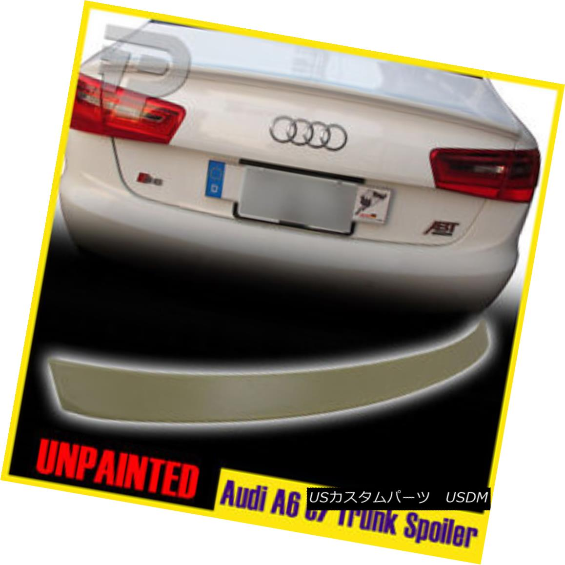 エアロパーツ Unpainted for AUDI A6 C7 Sedan 4DR D-Type Rear Trunk Spoiler Wing 12-14 AUDI A6 C7セダン4DR D型リアトランク・スポイラーウィング12-14