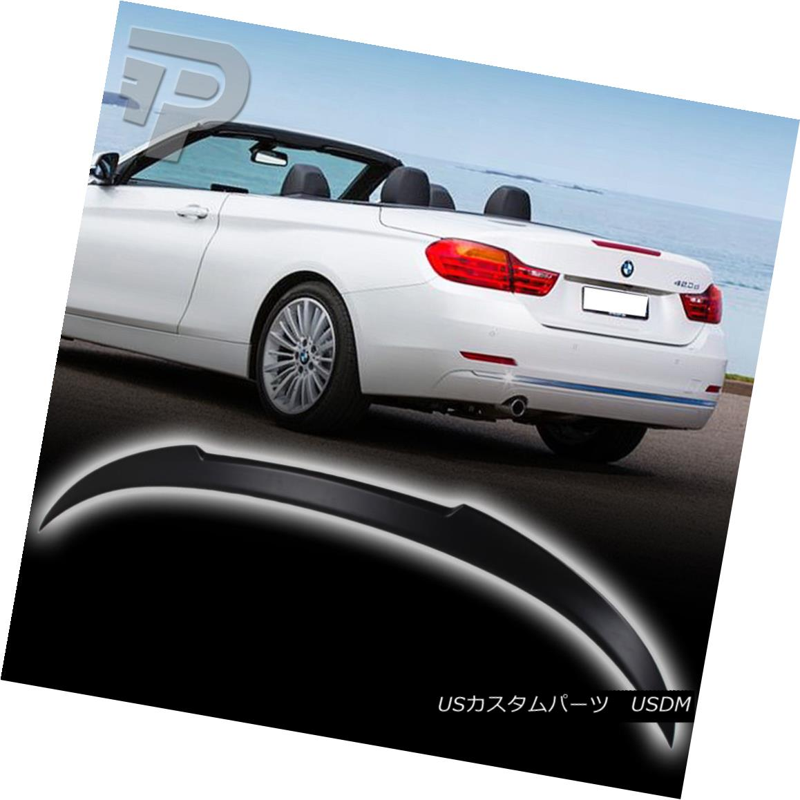 エアロパーツ Unpainted 440i BMW 4-Series F33 Convertible M4 Style Trunk Spoiler Wing 14-17 未塗装の440i BMW 4シリーズF33コンバーチブルM4スタイルトランク・スポイラー・ウィング14-17