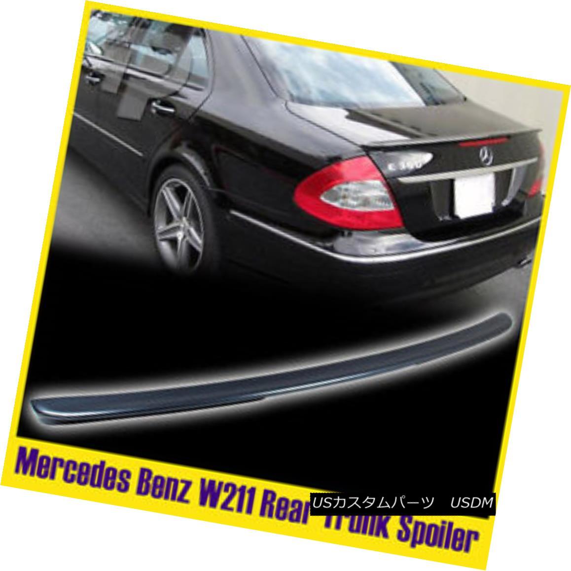 エアロパーツ Mercedes Benz E-Class W211 4DR Painted 368 Gray Rear Trunk Spoiler メルセデスベンツEクラスW211 4DR塗装368グレーリアトランク・スポイラー