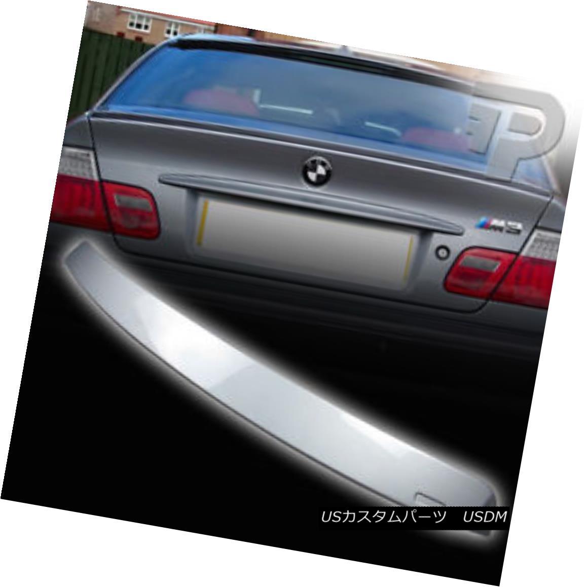 エアロパーツ PAINTED E46 BMW COUPE A STYLE WING ROOF SPOILER REAR 354 SILVER ▼ 塗装されたE46 BMWカップルスタイルのウイングルーフスポイラーリア354シルバー?