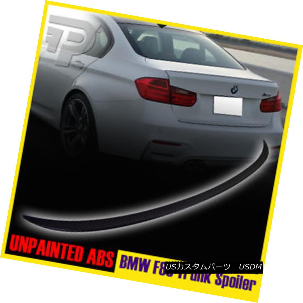 エアロパーツ UNPAINTED BMW 3-SERIES F80 M3 TYPE REAR BOOT LIP TRUNK SPOILER WING 14-15 ▼ 未装着BMW 3シリーズF80 M3タイプリアブーツリップトランクスポイラーウイング14-15?