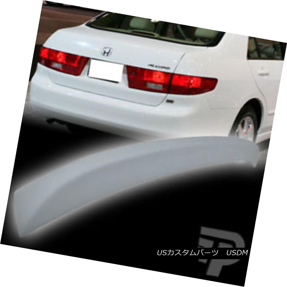 エアロパーツ Unpainted FRP Honda Accord Sedan OE Type Rear Trunk Spoiler Wing 2003-2005▼ 未塗装FRPホンダアコードセダンOEタイプリアトランク・スポイラーウイング2003-2005?