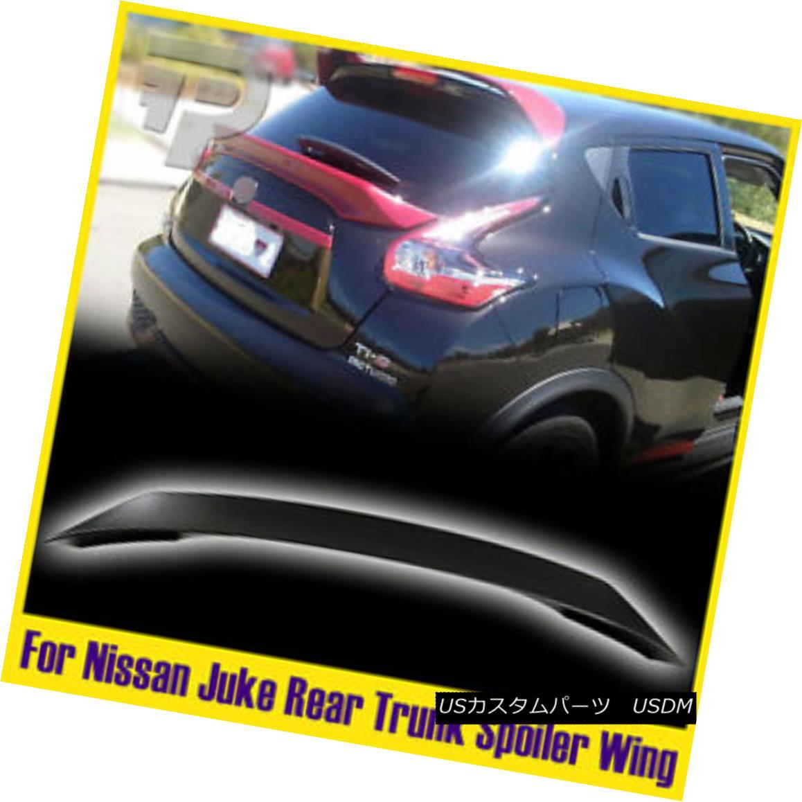 エアロパーツ UNpainted For Nissan Juke F15 Hatchback SUV Rear Trunk Spoiler 2012-2016 SV SL 未塗装の日産ジュークF15ハッチバックSUVリアトランク・スポイラー2012-2016 SV SL