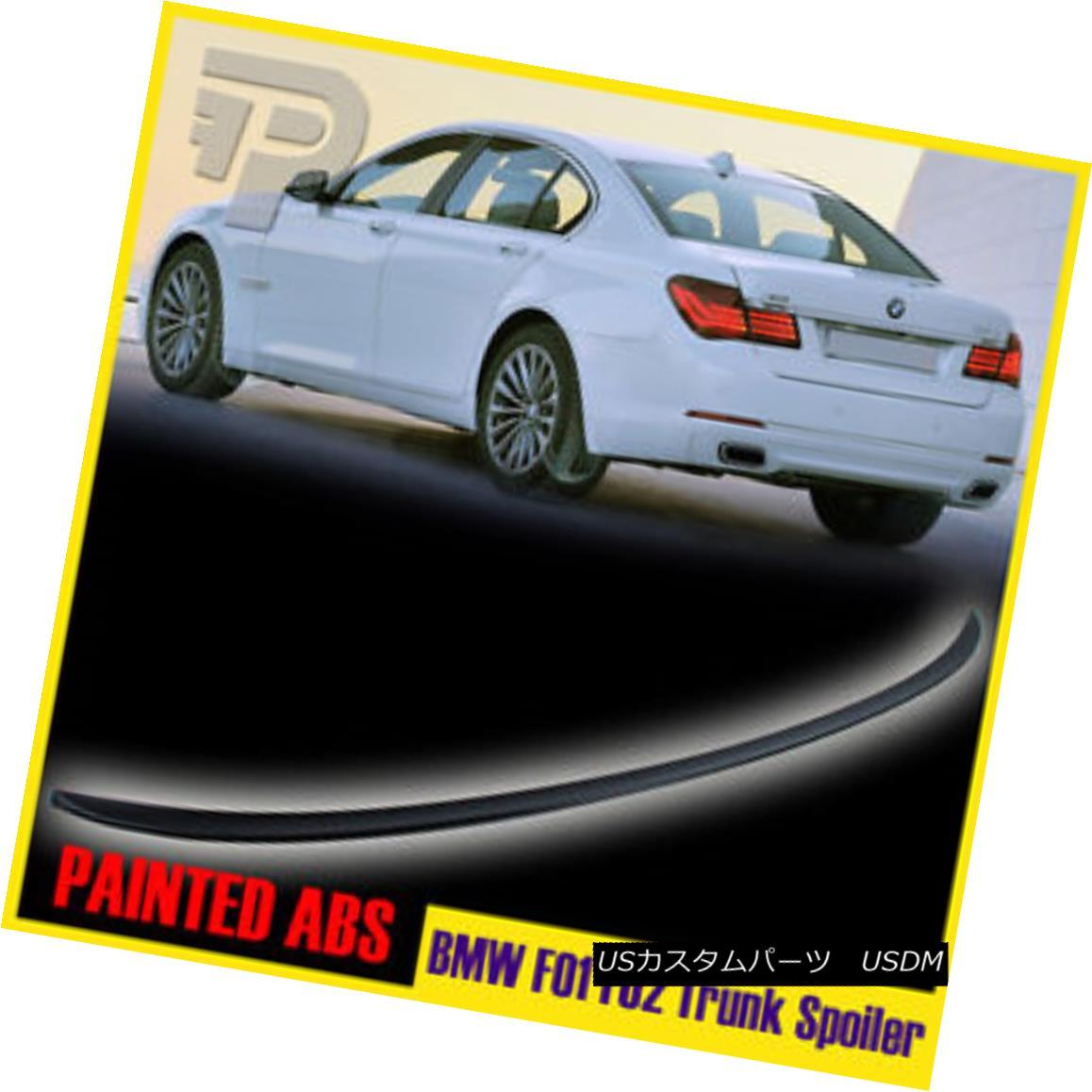 エアロパーツ Painted 09-15 BMW 7-Series F01 F02 4DR Sedan M3-Style Rear Trunk Spoiler Wing ペイントされた09 - 15 BMW 7 - シリーズF01 F02 4DRセダンM3 - スタイル後部トランクスポイラーウィング
