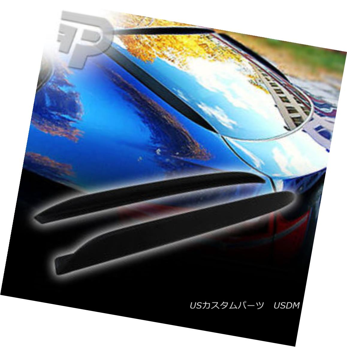 エアロパーツ MATTE BLACK BMW X6 E71 SUV REAR FIN FINS 08-14 マットブラックBMW X6 E71 SUVリアファインフィン08-14