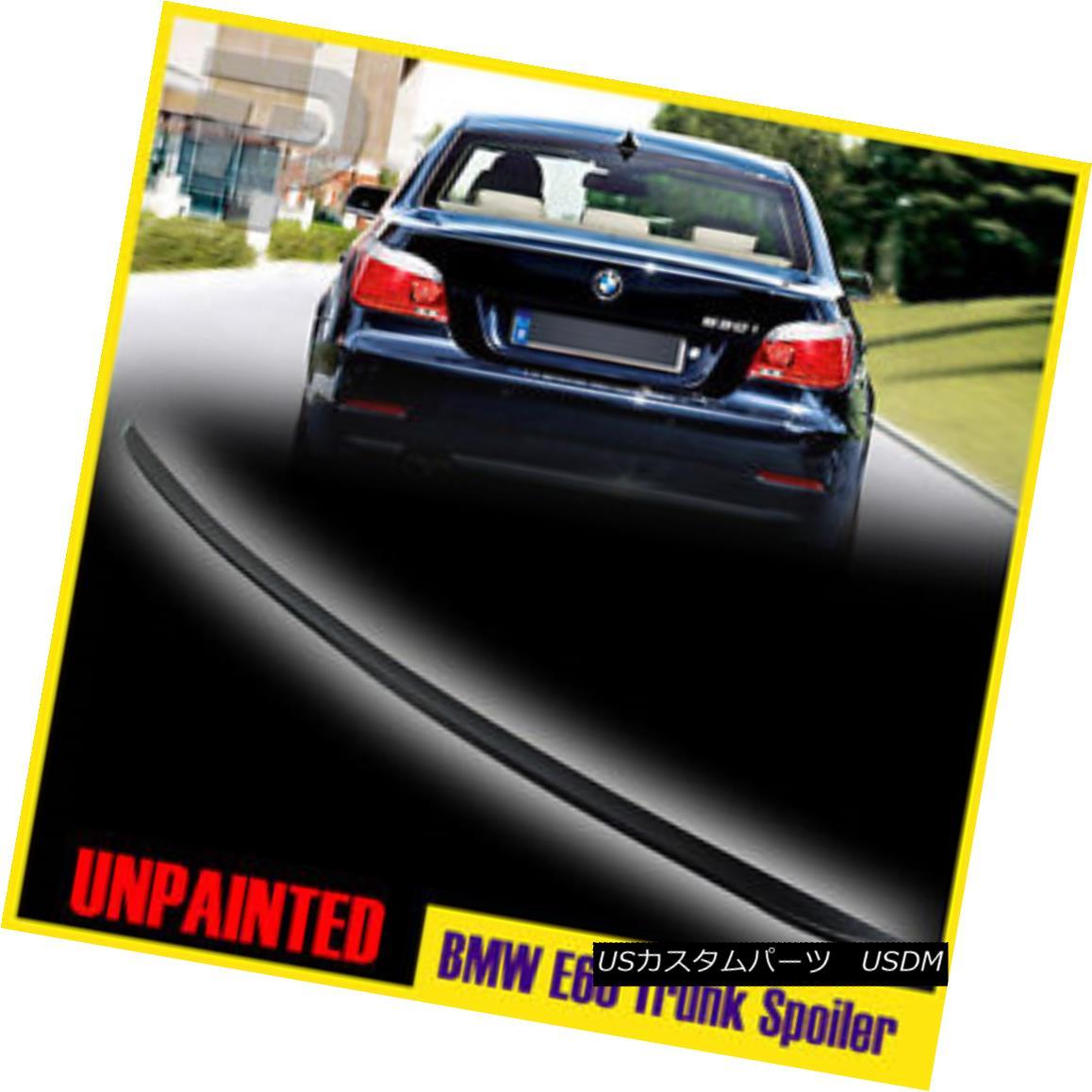 エアロパーツ Unpainted Rear Trunk Spoiler Wing 2004-2010 BMW 5-Series E60 4DR M3 M5 525i 428i 未塗装の後部トランク・スポイラー・ウィング2004-2010 BMW 5シリーズE60 4DR M3 M5 525i 428i