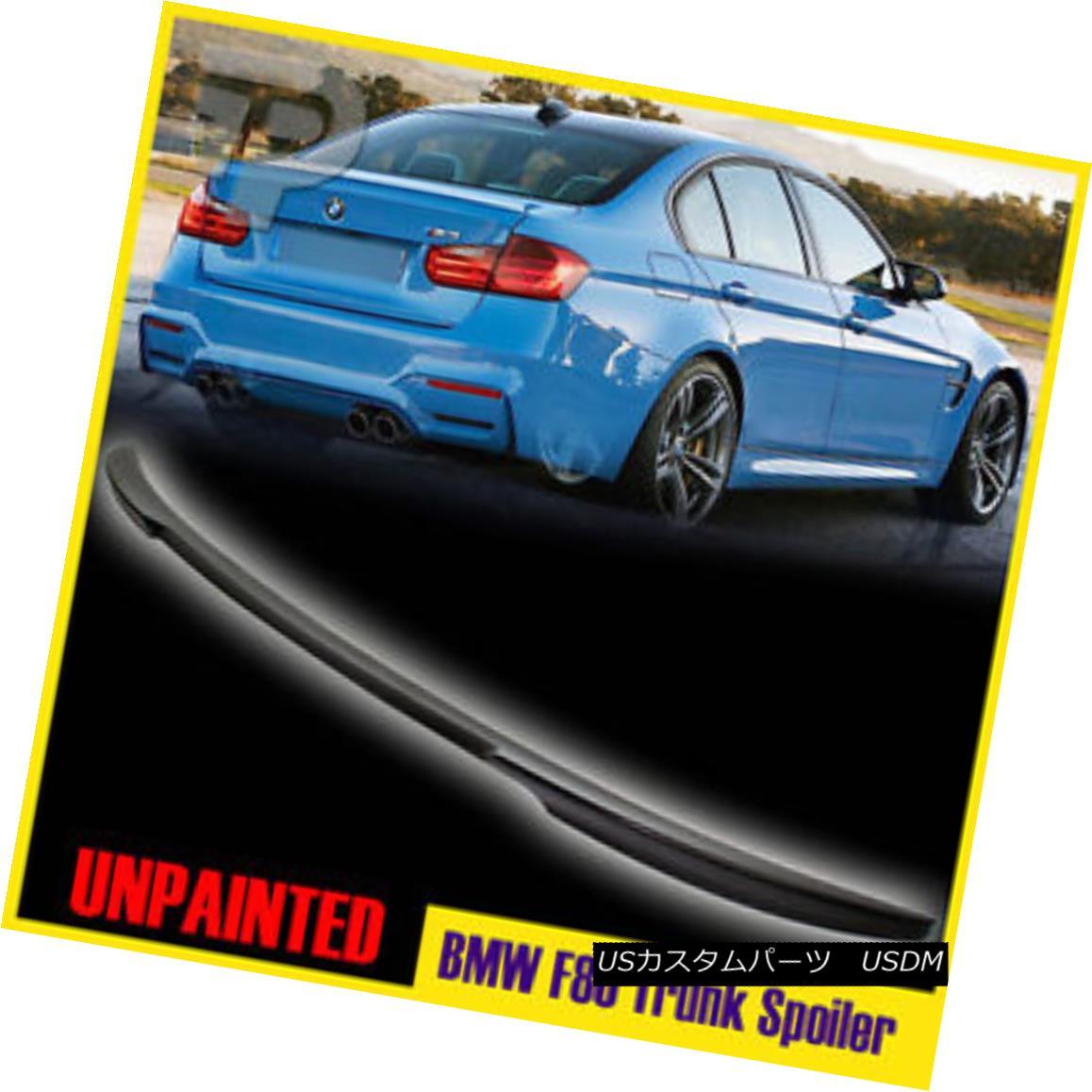 エアロパーツ UNPAINTED BMW 3-SERIES F80 V-TYPE REAR TRUNK LIP SPOILER WING 2014-2016 未塗装BMW 3-Series F80 V-TYPEリアトランクリップスポイラーウイング2014-2016