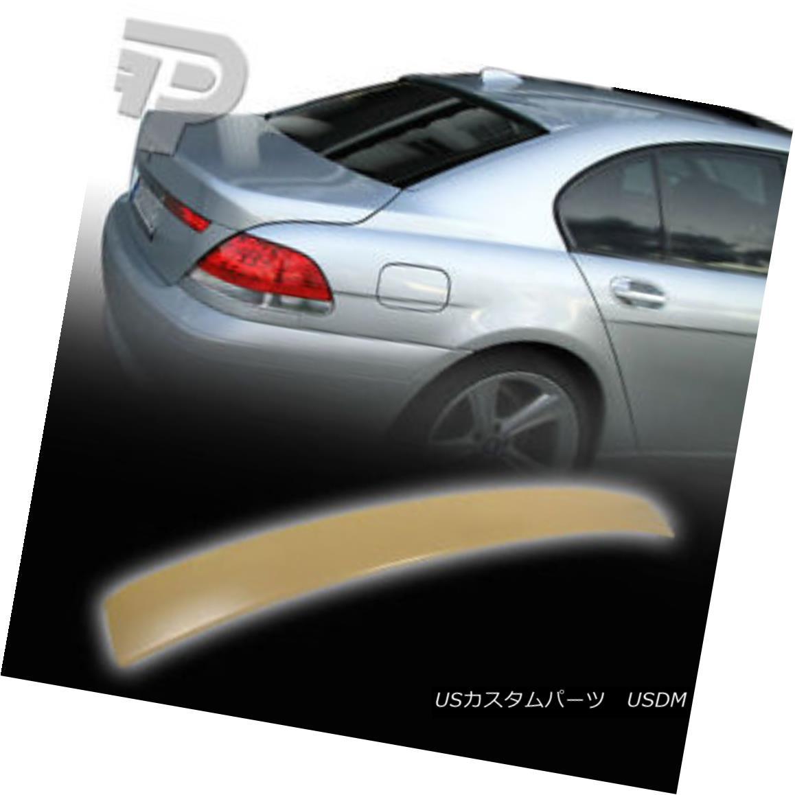 エアロパーツ BMW E65 4D SEDAN A TYPE REAR WING ROOF SPOILER 02+ ▼ BMW E65 4DセダンAタイプリアウイングルーフスポイラー02+?