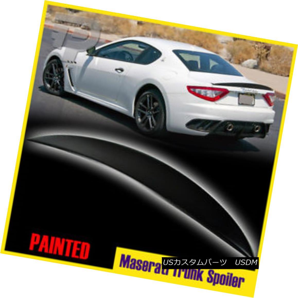 エアロパーツ PAINTED Maserati GranTurismo GT Coupe 2DR Sport MC Line Trunk Spoiler 2014 塗装済みマセラティグランツーリスモGTクーペ2DRスポーツMCライントランク・スポイラー2014