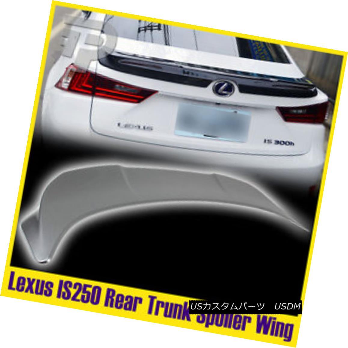 エアロパーツ #1J4 Silver Lexus IS250 IS350 Sedan Painted #1J4 Silver Trunk Spoiler #1J4シルバーレクサスIS250 IS350セダン塗装#1J4シルバートランクスポイラー