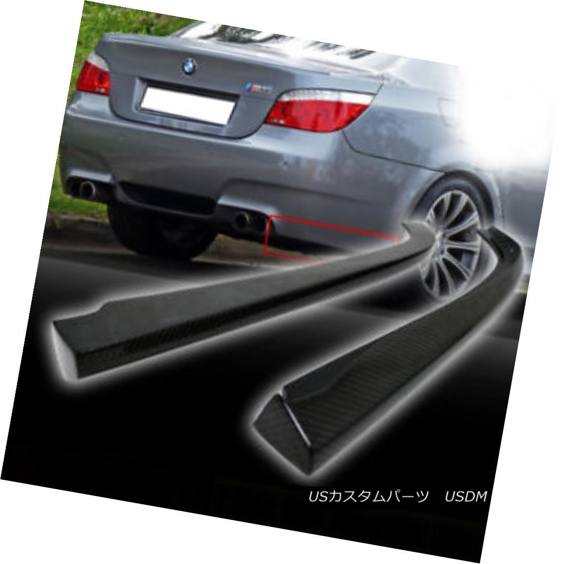 エアロパーツ Carbon Fiber BMW 5-SERIES E60 4DR M5 Model Body Kits Rear Lip Bumper Splitter ▼ カーボンファイバーBMW 5-SERIES E60 4DR M5モデルボディキットリアリップバンパースプリッター?