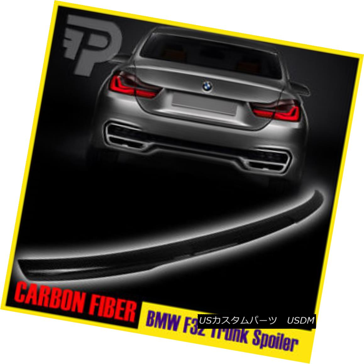 エアロパーツ Carbon Fiber BMW 4-Ser F32 2DR Coupe M4 Style Trunk Spoiler Boot 14-16 カーボンファイバーBMW 4-Ser F32 2DRクーペM4スタイルトランク・スポイラー・ブーツ14-16