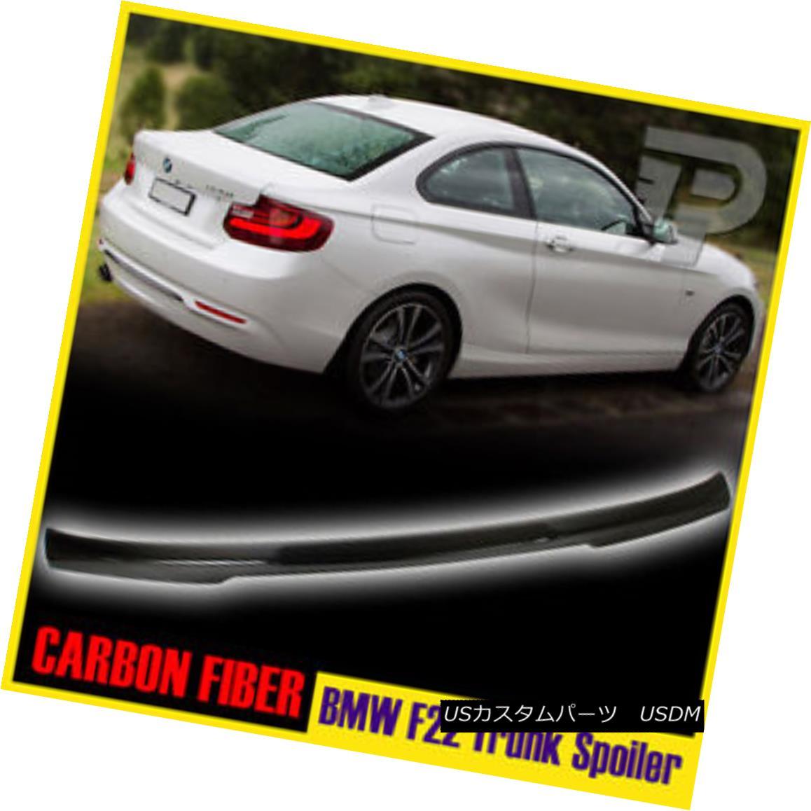 エアロパーツ Carbon Fiber BMW 2-Ser F22 Coupe 2DR M4-Type Trunk Spoiler Boot 228i 235i 16 カーボンファイバーBMW 2-Ser F22クーペ2DR M4タイプトランクスポイラーブーツ228i 235i 16