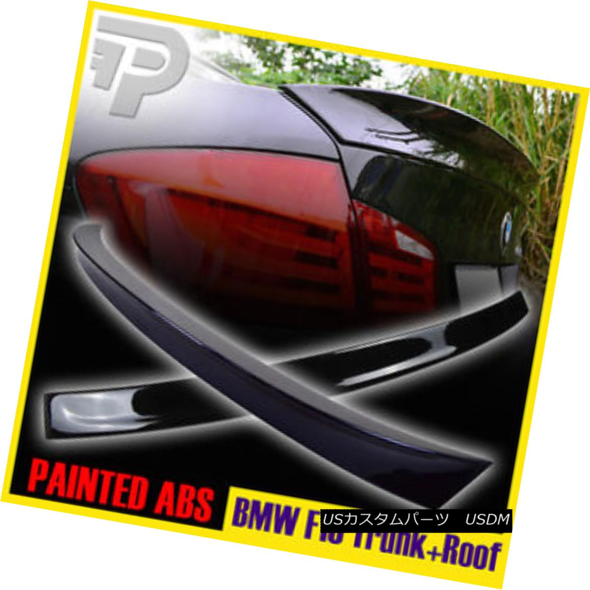 エアロパーツ PAINTED 5-SERIES F10 BMW 3D ROOF & M5 REAR TRUNK BOOT SPOILER ▼ PAINTED 5-SERIES F10 BMW 3D ROOF& M5リアトランクブーツスポイラー?