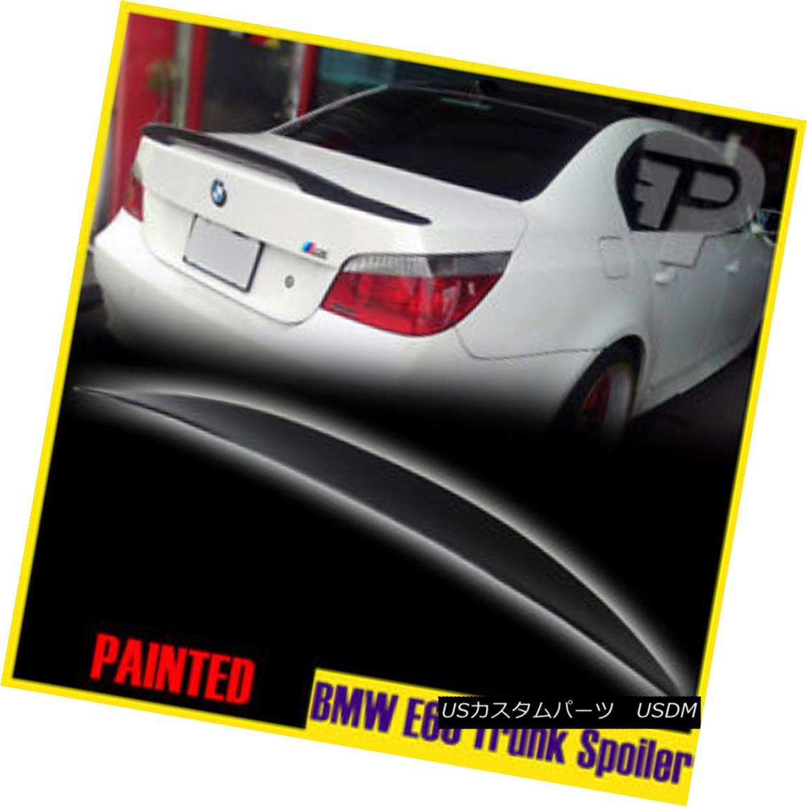 エアロパーツ High Kick BMW 5-Series E60 Saloon Painted Performance-Look Trunk Lip Spoiler ハイキックBMW 5シリーズE60サルーンペイントパフォーマンス - ロウokトランクリップスポイラー