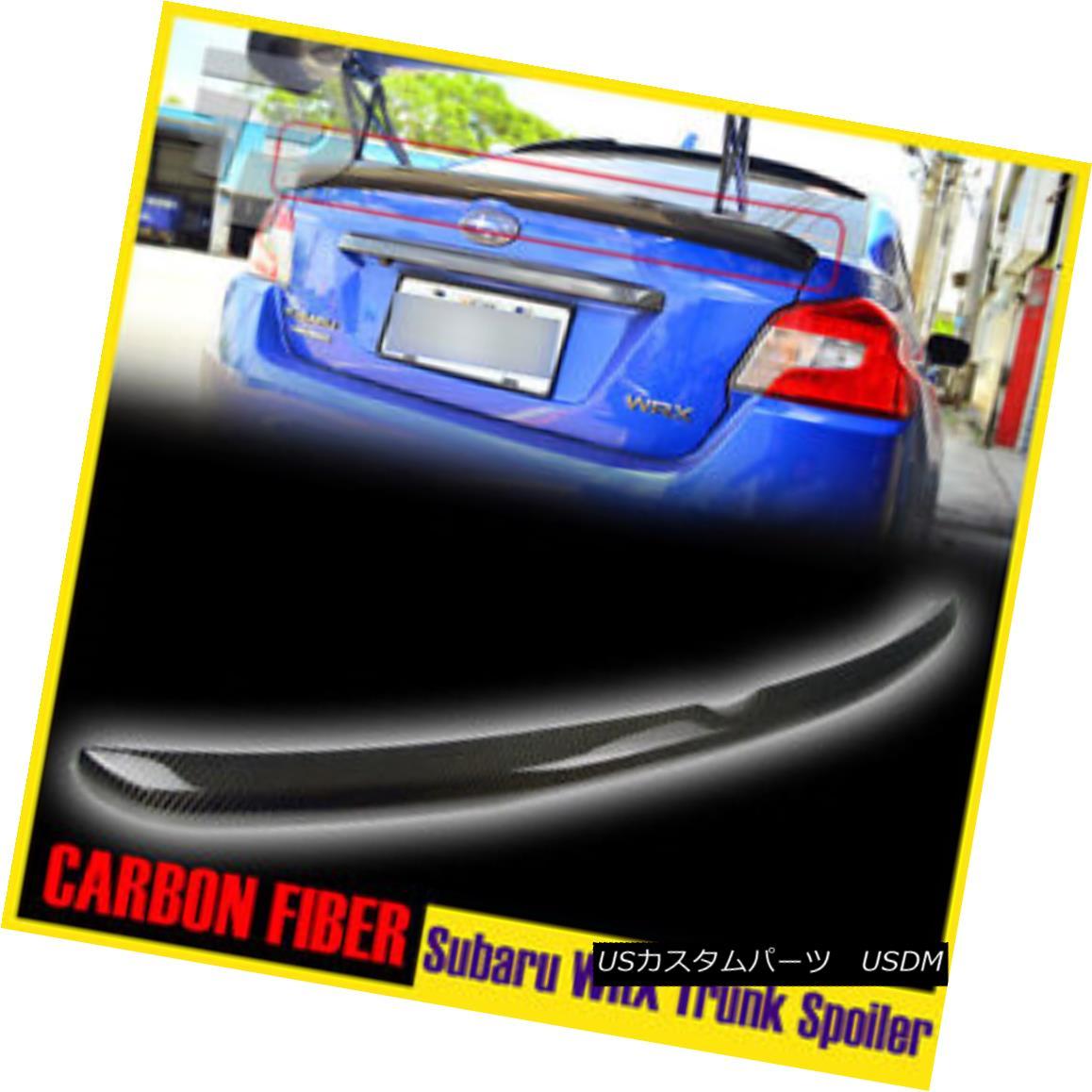 エアロパーツ For Subaru WRX STI Sedan OE Style Rear Trunk Spoiler Carbon Fiber 15-17 スバルWRX STIセダンOEスタイルリアトランクスポイラーカーボンファイバー15-17