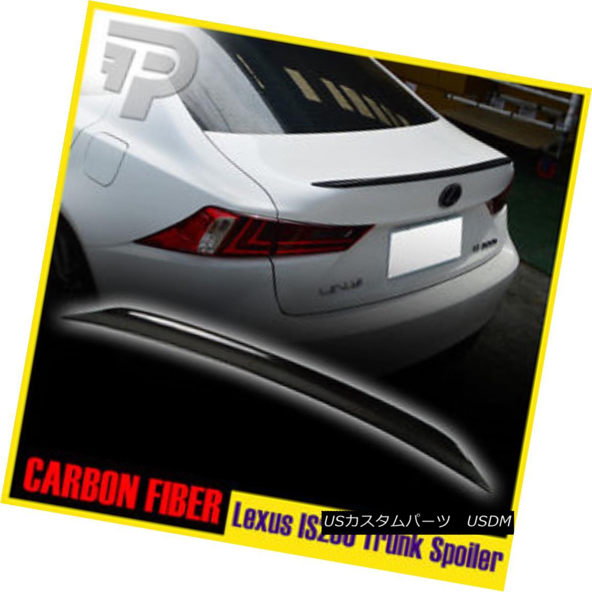 エアロパーツ For Lexus IS250 IS350 XE30 Carbon Rear Trunk Spoiler Sedan レクサスIS250 IS350 XE30カーボンリアトランク・スポイラーセダン