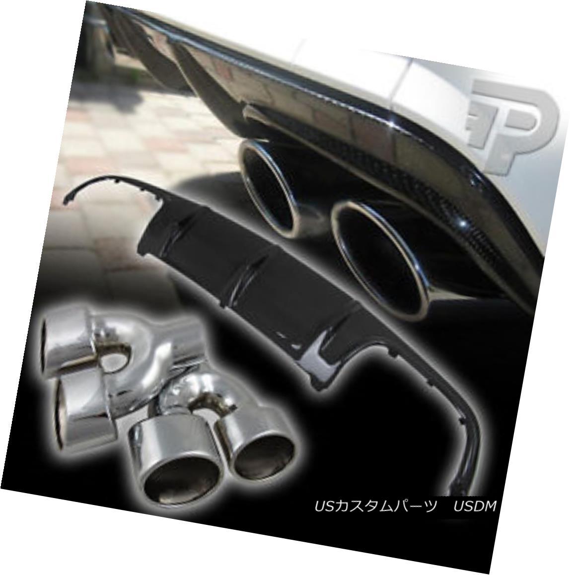 エアロパーツ Mercedes BENZ W204 EXHAUST PIPE DOUBLE & CARBON FIBER REAR DIFFUSER BUMPER ▼ メルセデスベンツW204排気管ダブル& カーボンファイバーリアディフューザーバンパー?
