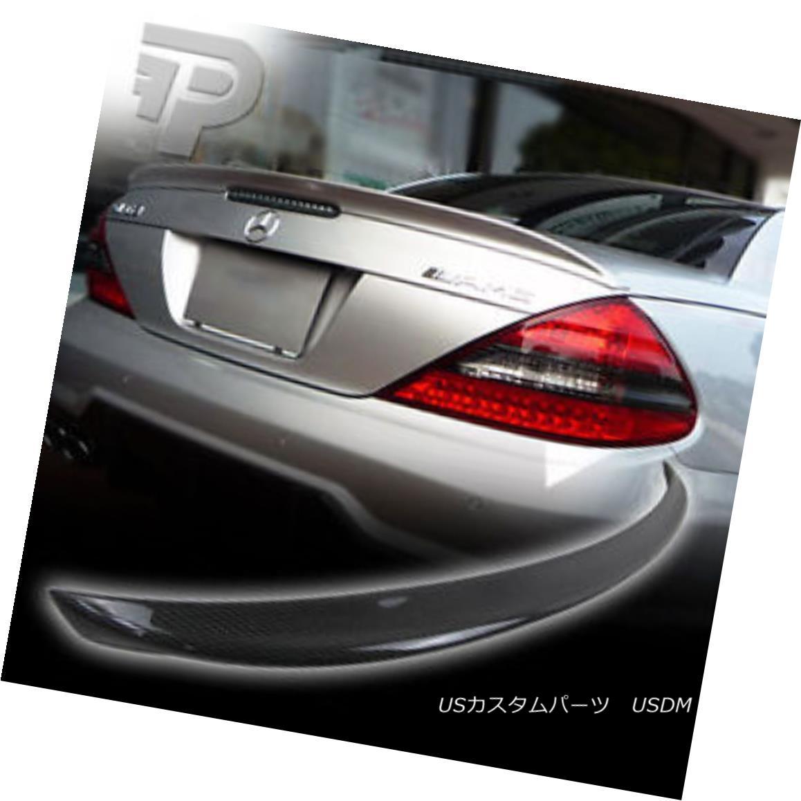 エアロパーツ CARBON FIBER Mercedes BENZ R230 A TYPE REAR TRUNK BOOT SPOILER SL55 SL550 ▼ カーボンファイバーメルセデスベンツR230型後部トランクブーツスポイラーSL55 SL550?