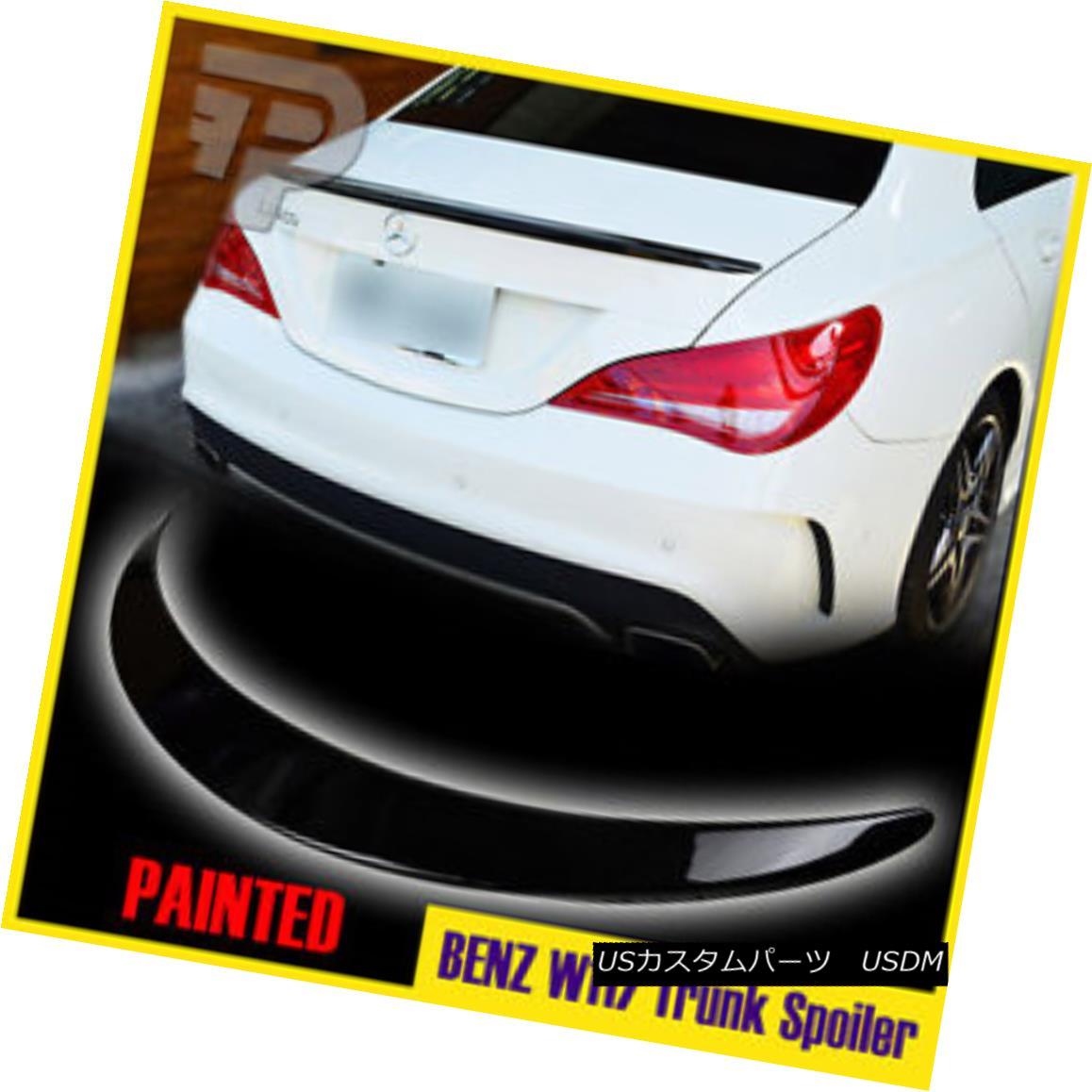 エアロパーツ Painted#197 Mercedes Benz W117 CLA-Class AM-Look Sedan Trunk Spoiler Wing Boot ペイント#197メルセデスベンツW117 CLAクラスAMルックセダントランクスポイラーウイングブーツ