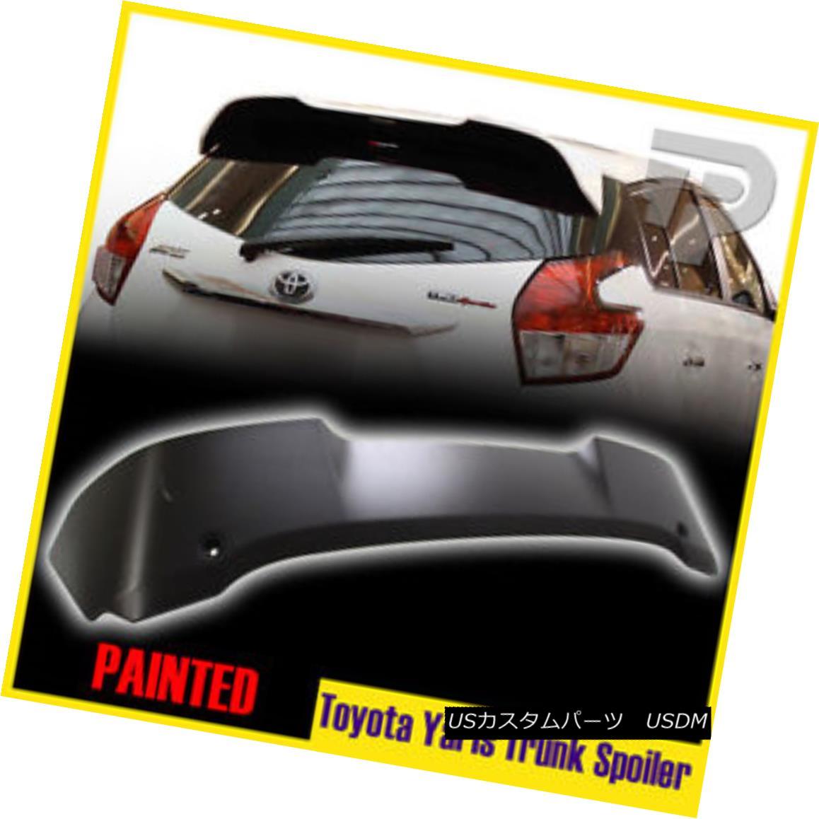 エアロパーツ Painted For TOYOTA 3rd Yaris 4D Hatchback LE T-Type Rear Spoiler Trunk Wing 2016 トヨタ第3ヤリス4DハッチバックLE塗装済みT型リアスポイラートランクウイング2016