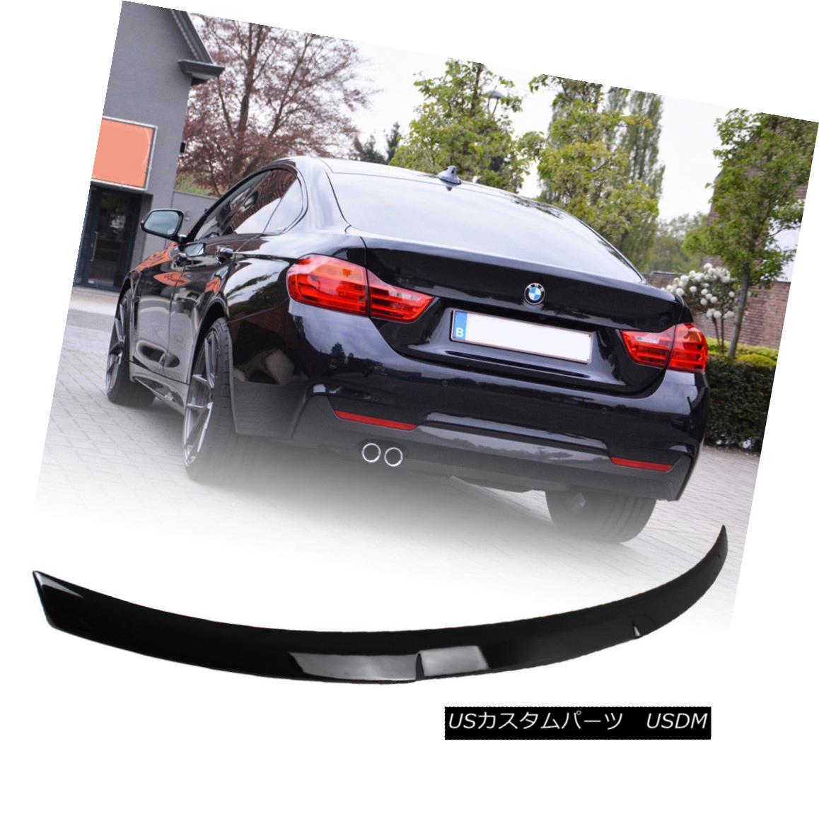 エアロパーツ Fit BMW 4 Series F32 Coupe M4 Style Rear Trunk Spoiler Wing ABS Paint Black #668 フィットBMW 4シリーズF32クーペM4スタイルリアトランクスポイラーウィングABSペイントブラック#668