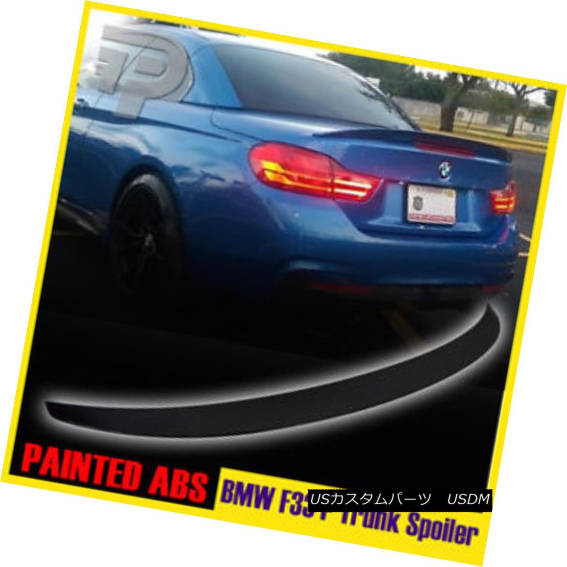 エアロパーツ PAINTED FOR BMW F33 PERFORMANCE P-STYLE CONVERTIBLE REAR TRUNK SPOILER 14-17 BMW F33のパフォーマンスP-STYLE CONVERTIBLEリアトーンスポイラー14-17