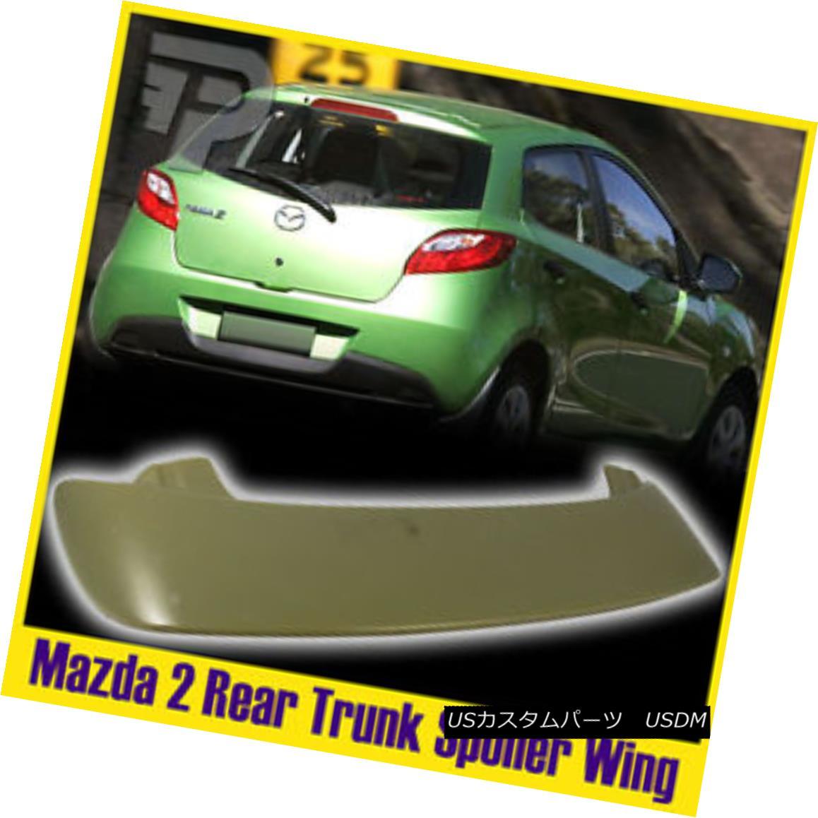 エアロパーツ Unpainted For Mazda 2 3rd Hatchback 5DR K-Type Rear Roof Visor Spoiler Wing 未塗装マツダ2 3ハッチバック5DR K型リアドアバイザースポイラーウイング