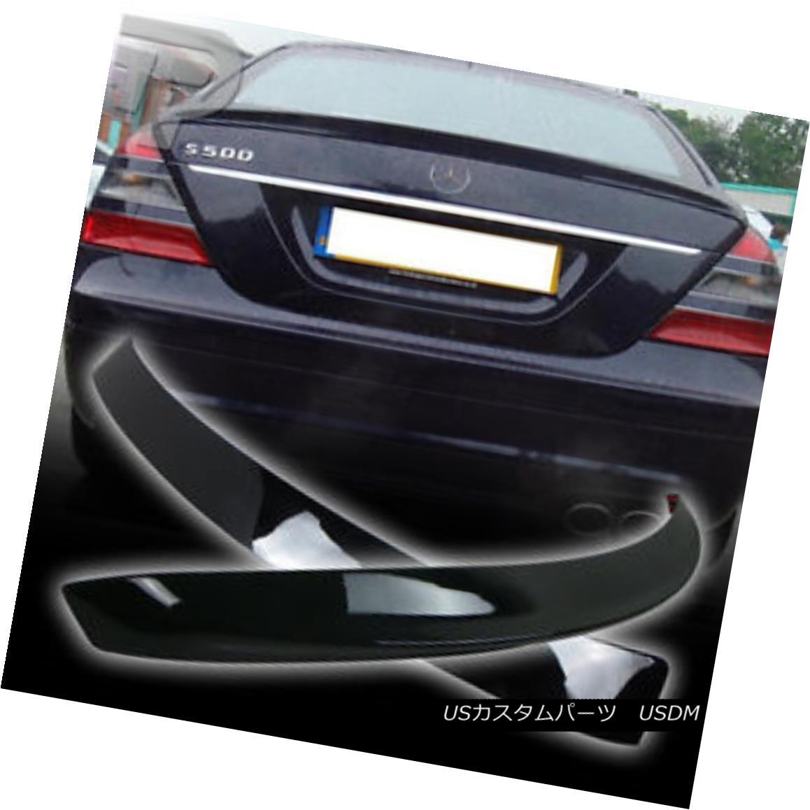 エアロパーツ PAINTED Mercedes BENZ W221 L ROOF & A TYPE REAR BOOT TRUNK SPOILER 07-13 ▼ ペイントされたメルセデスベンツW221 Lルーフ& Aタイプのリアブーツトゥーンスポイラー07-13?