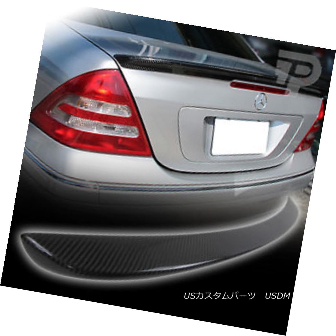 エアロパーツ CARBON FIBER Mercedes BENZ C CLASS W203 A TYPE BOOT TRUNK SPOILER 01+▼ カーボンファイバーメルセデスベンツCクラスW203タイプブーツトランクスポーラー01+?