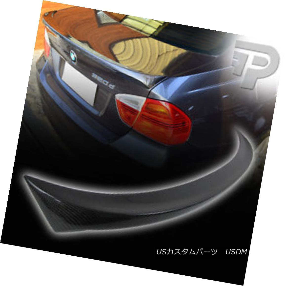 エアロパーツ CARBON FIBER BMW 3-SERIES E90 4D SEDAN M-TECH TYPE REAR BOOT TRUNK SPOILER 328i▼ カーボンファイバーBMW 3シリーズE90 4DセダンMテックタイプリアブーツトランクスポイラー328i?