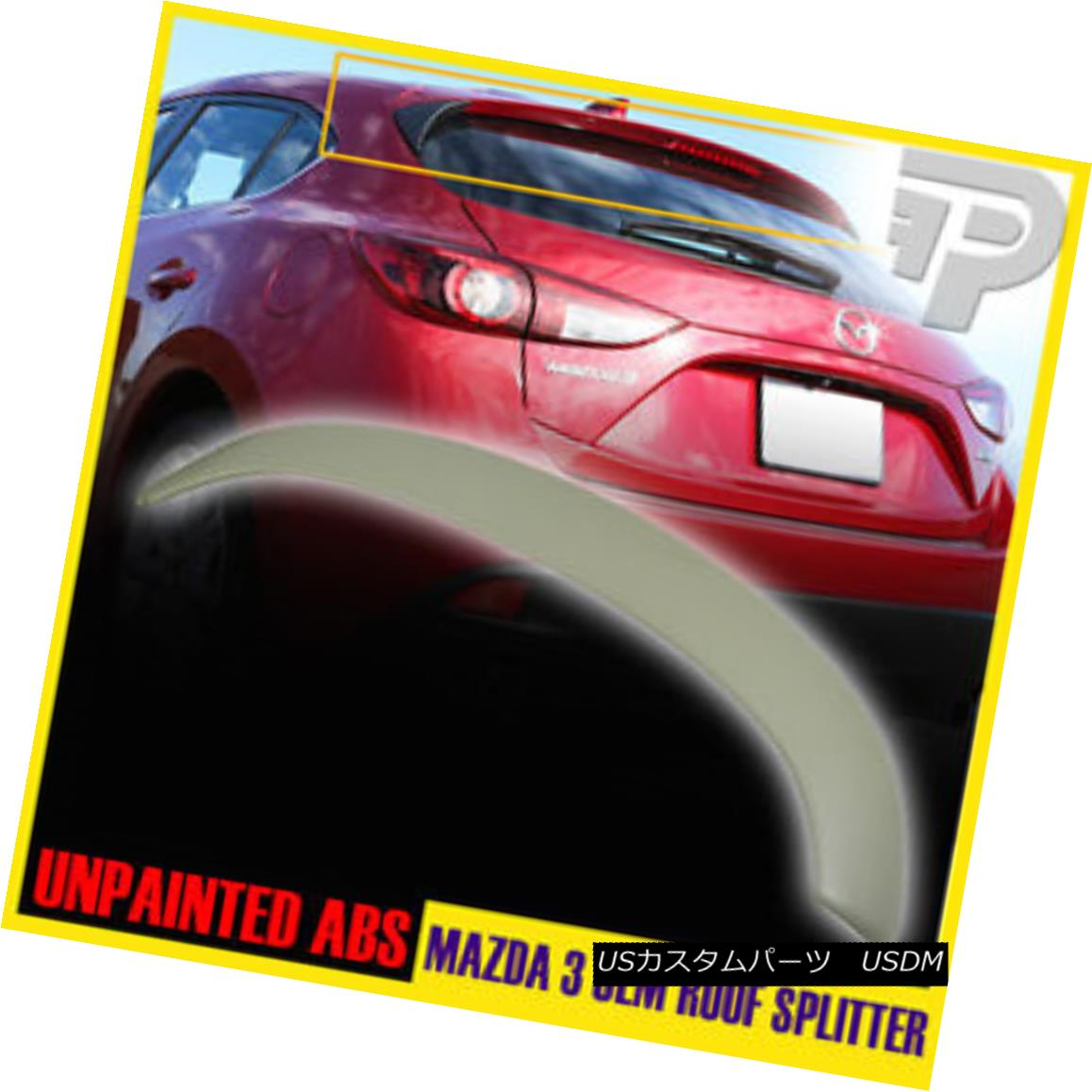<title>全品送料無料 車用品 バイク用品 >> パーツ 外装 エアロパーツ リアスポイラー PAINTED FOR MAZDA 3 ABS Hatchback 5DR REAR ROOF WING LIP SPOILER OE-TYPE ABSハッチバック5DRリアルーフウイングリップスポイラーOE-TYPE</title>
