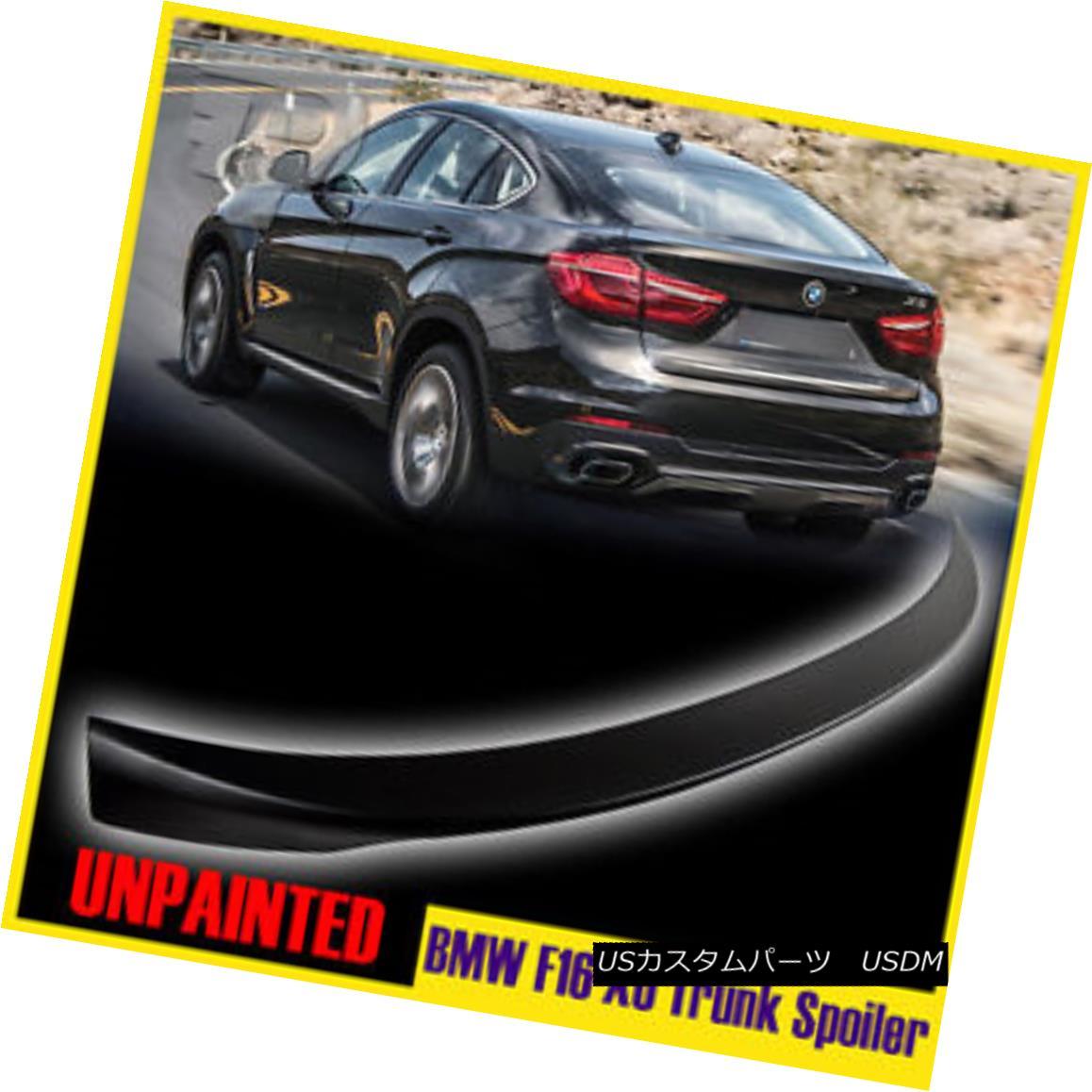 エアロパーツ Unpainted BMW 15-17 X6 F16 2nd X6M Sport F86 xDrive Trunk Spoiler Wing Boot 未塗装のBMW 15-17 X6 F16第2のX6MスポーツF86 xDriveトランク・スポイラー・ウイング・ブーツ