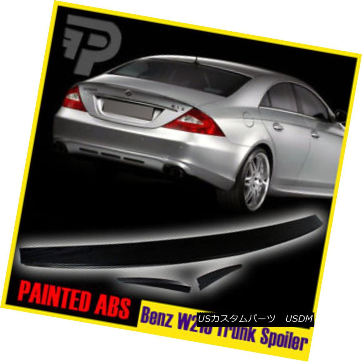 エアロパーツ Painted 04-10 Mercedes Benz CLS-Class W219 Saloon Rear Lip Trunk Spoiler Boot 塗装04-10メルセデスベンツCLSクラスW219サルーンリアリップトランク・スポイラー・ブーツ