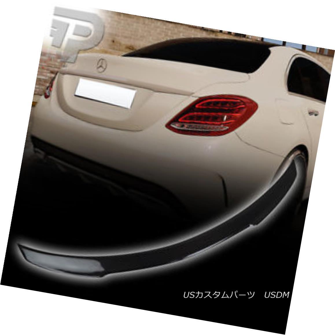 エアロパーツ Carbon Fiber Mercedes BENZ C CLASS W205 V-TYPE REAR TRUNK SPOILER WING SEDAN▼ 炭素繊維メルセデスベンツCクラスW205 V型後部トランクスポイラーウイングセダン?