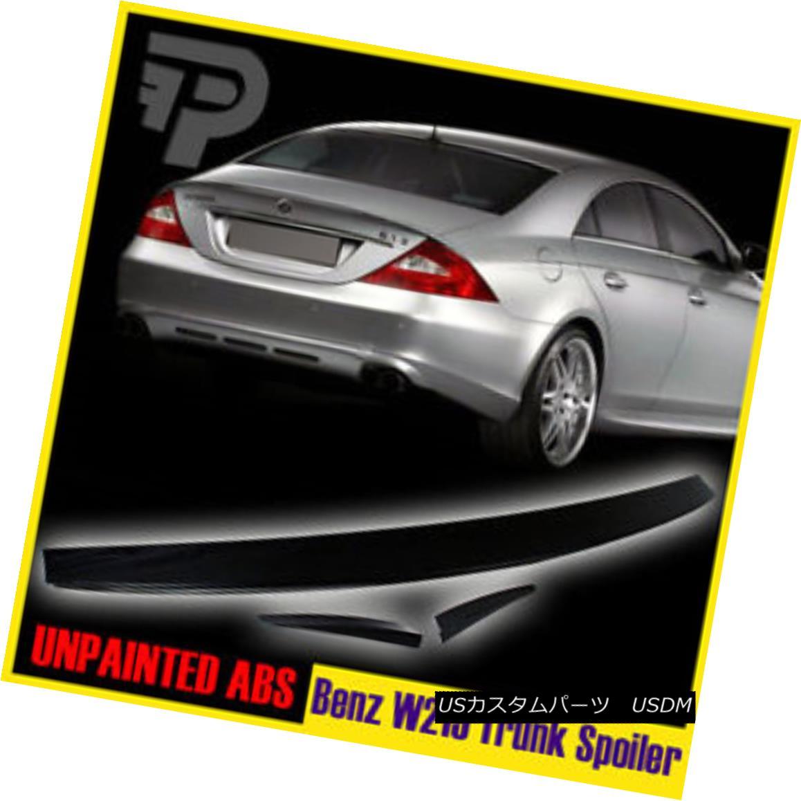 エアロパーツ Unpainted 2010 Mercedes-Benz CLS-Class W219 Sedan B Look Rear Wing Trunk Spoiler 未塗装2010年メルセデス・ベンツCLSクラスW219セダンBルック・ウイング・トランク・スポイラー
